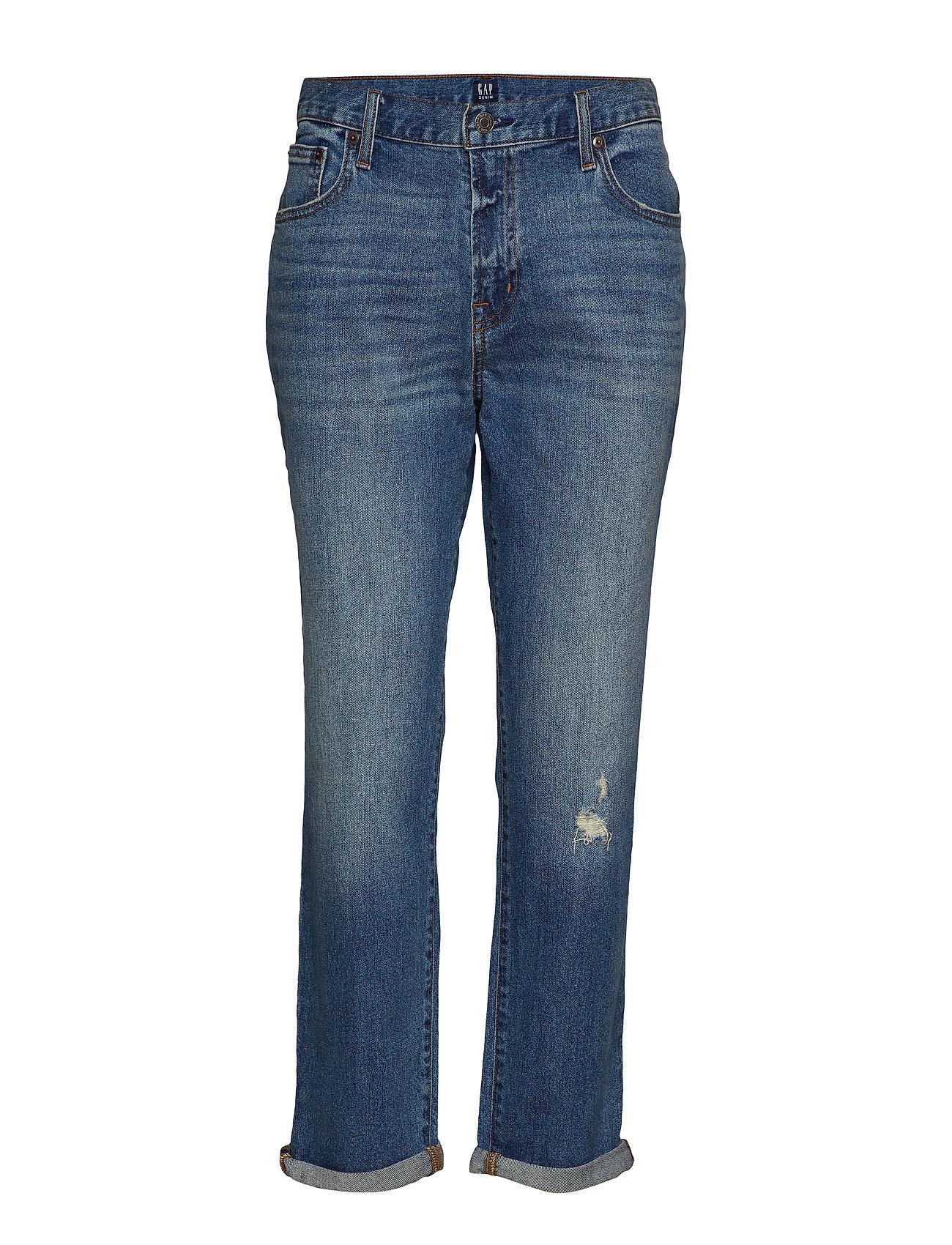 GAP Mid Rise Girlfriend Jeans - MEDIUM INDIGO 8