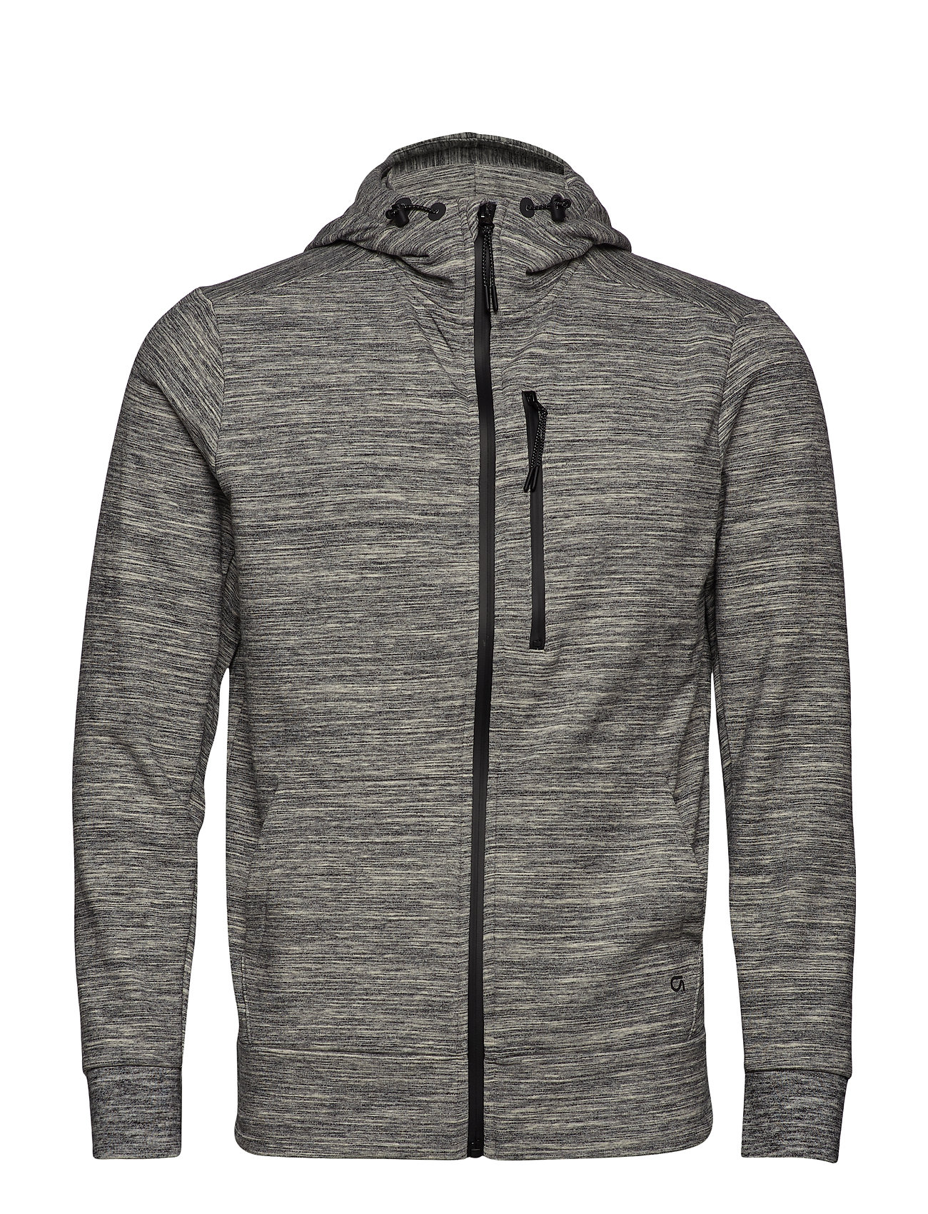 GAP GapFit All-Elements Fleece Full-Zip Hoodie - GREY SPACEDYE