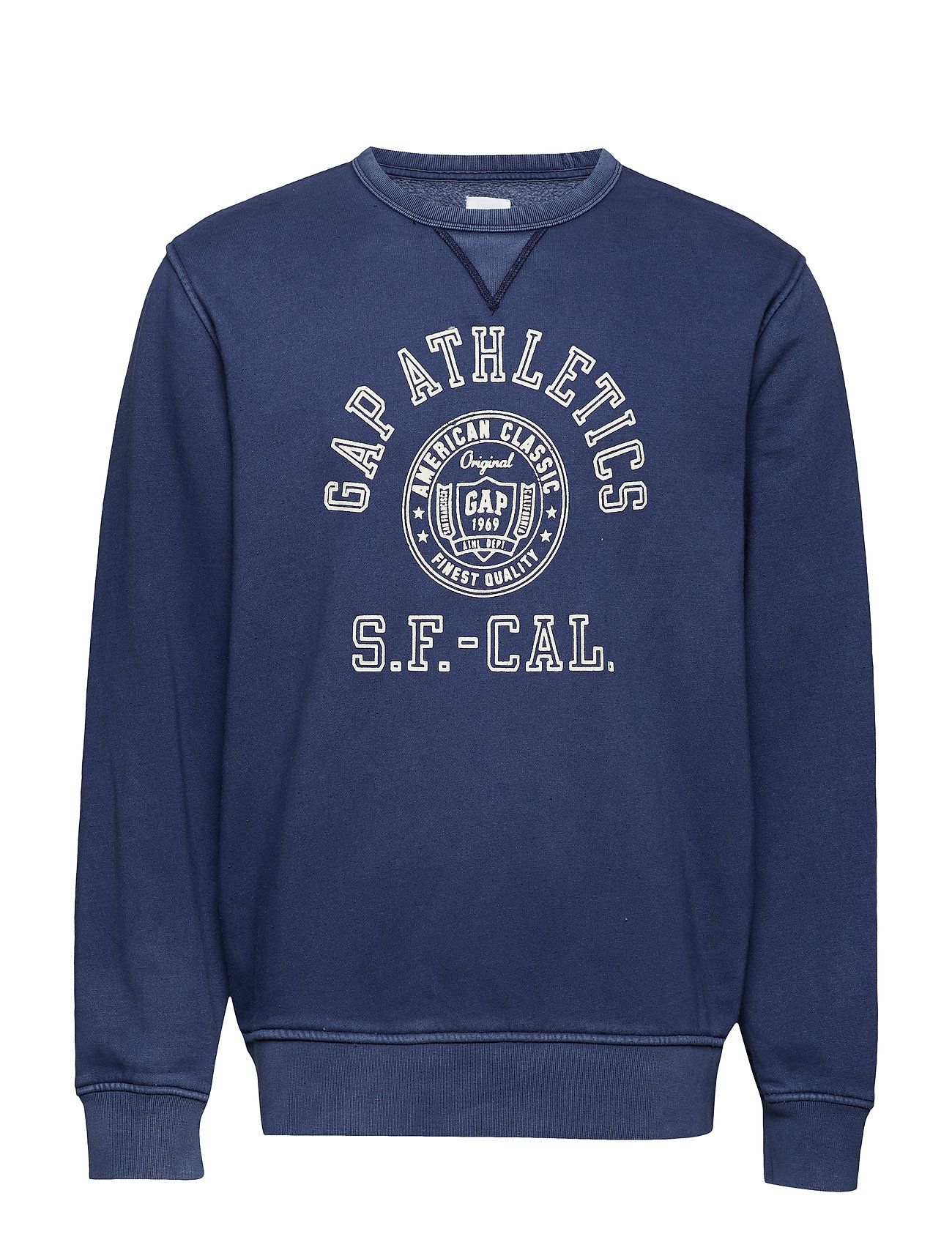 GAP Vintage Soft Gap Logo Graphic Sweatshirt - MARINE BLUE 059