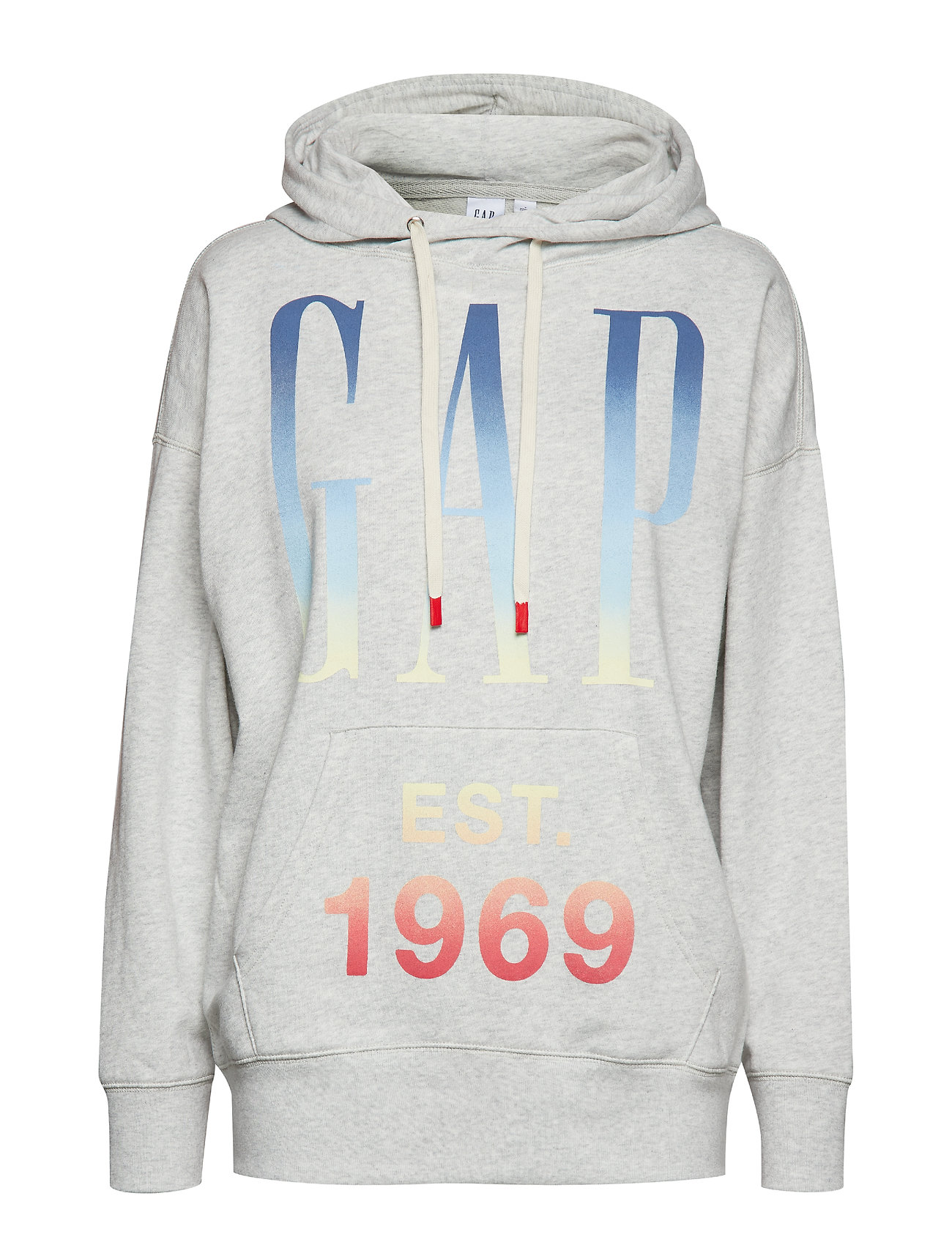 GAP Vintage Soft Oversized Logo Pullover Hoodie - BC02 LIGHT HTHR GREY
