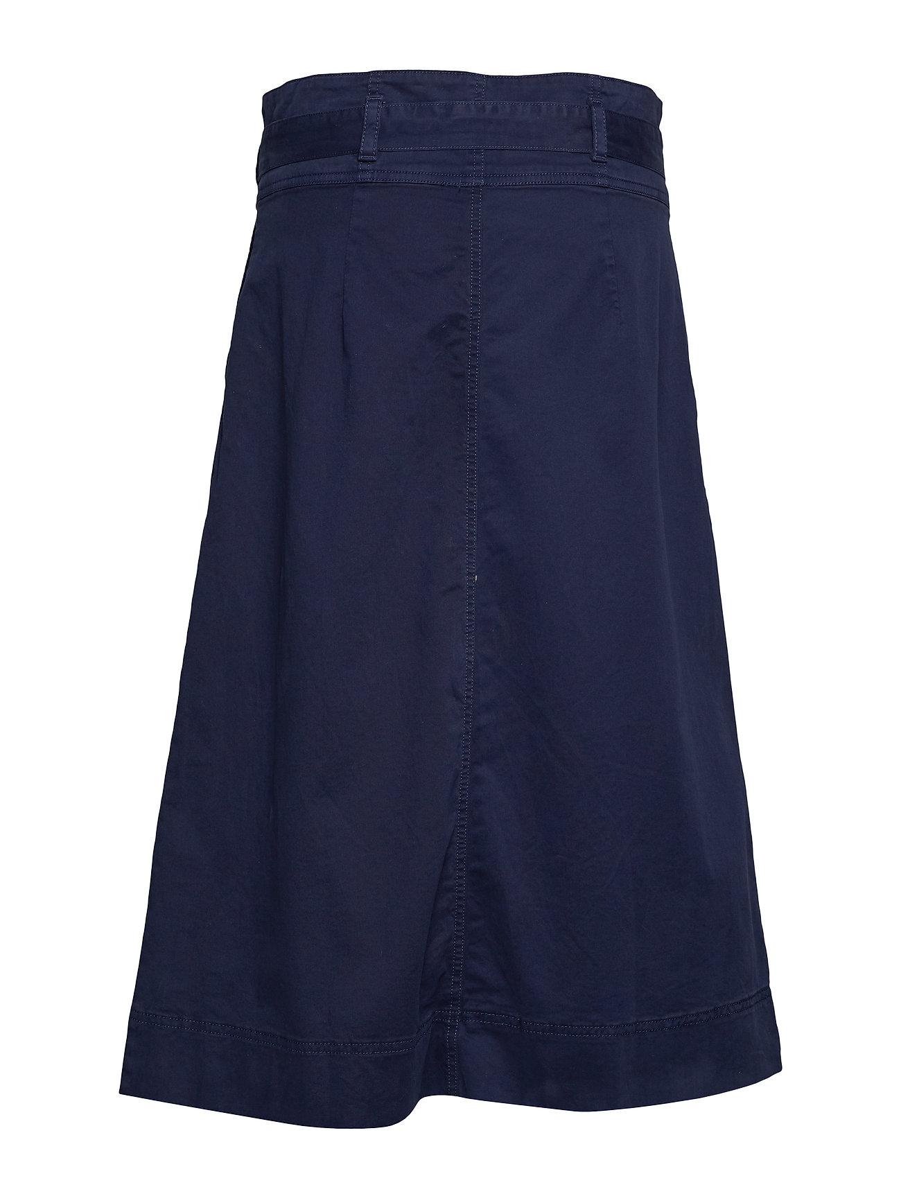 GAP    Tie-Belt Button-Front Midi Skirt  - Röcke    NAVY UNIFORM