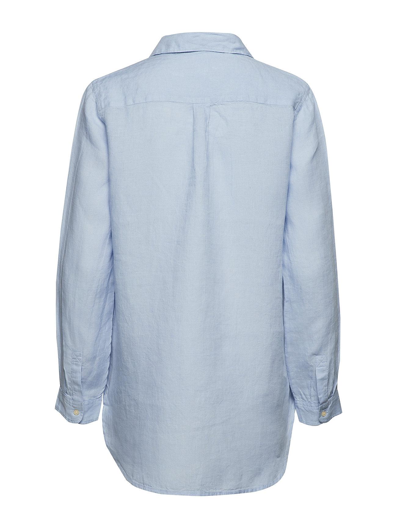 GAP    Boyfriend Stripe Popover Tunic in Linen  - Blusen & Hemden    MULTI STRIPE