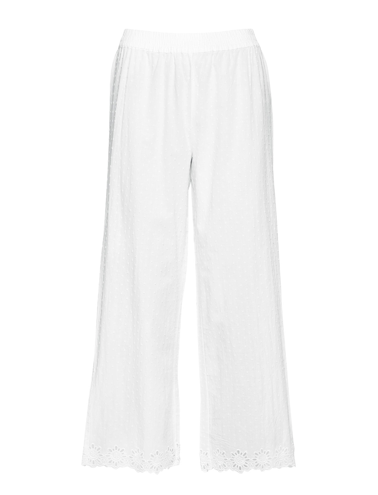 GAP Dreamwell Embroidered Pants in Swiss Dot - OPTIC WHITE