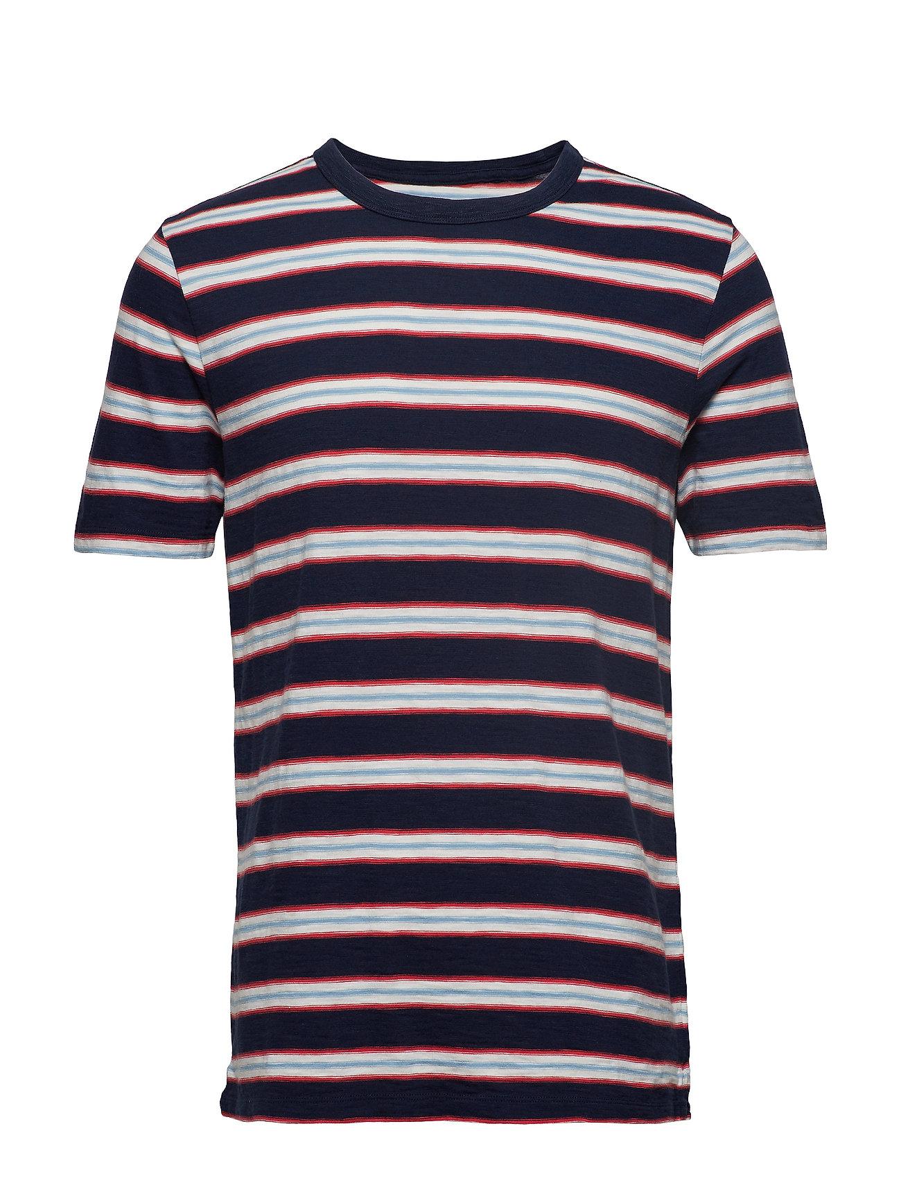 GAP Vintage Slub Jersey Stripe Crewneck T-Shirt - TAP NAVY STRIPE