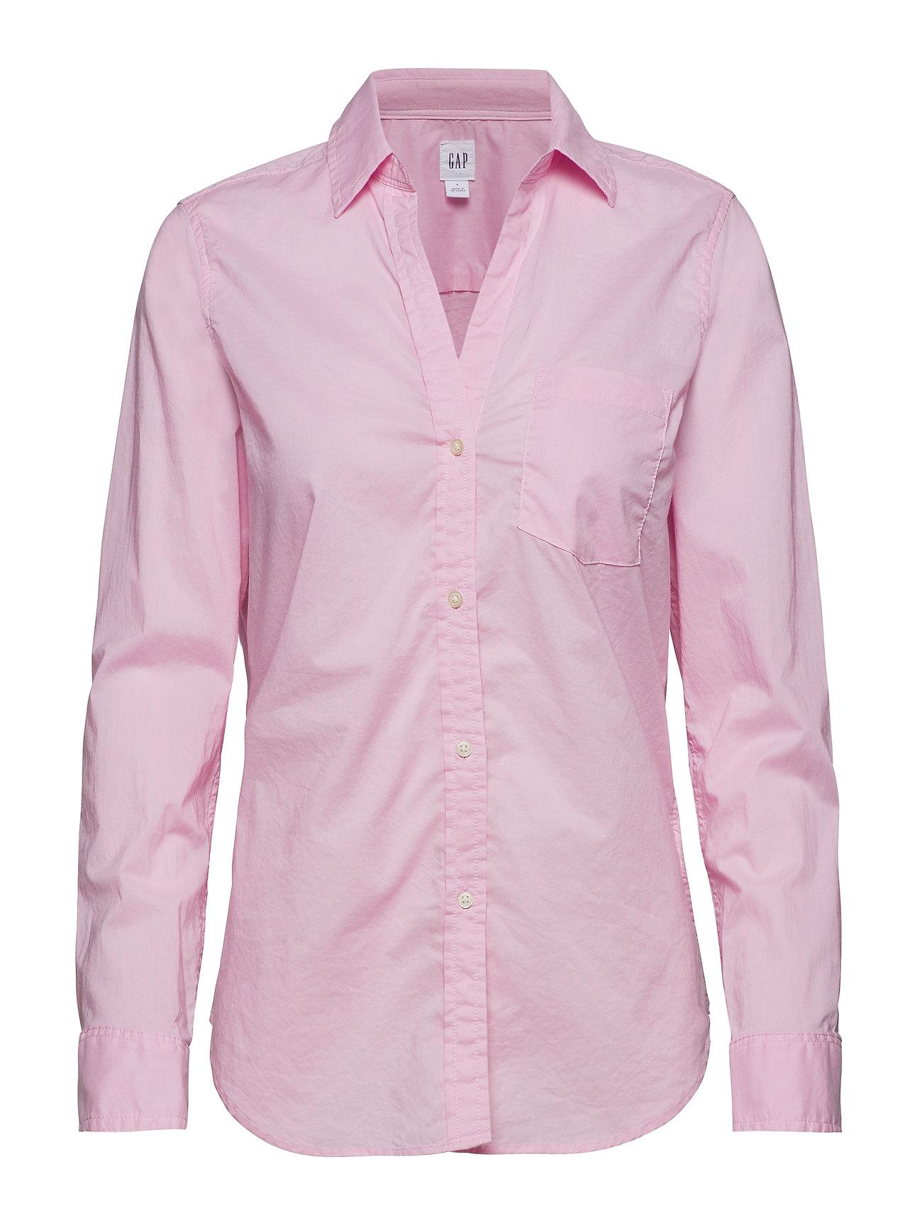 GAP Fitted Boyfriend Shirt - LIGHT PINK
