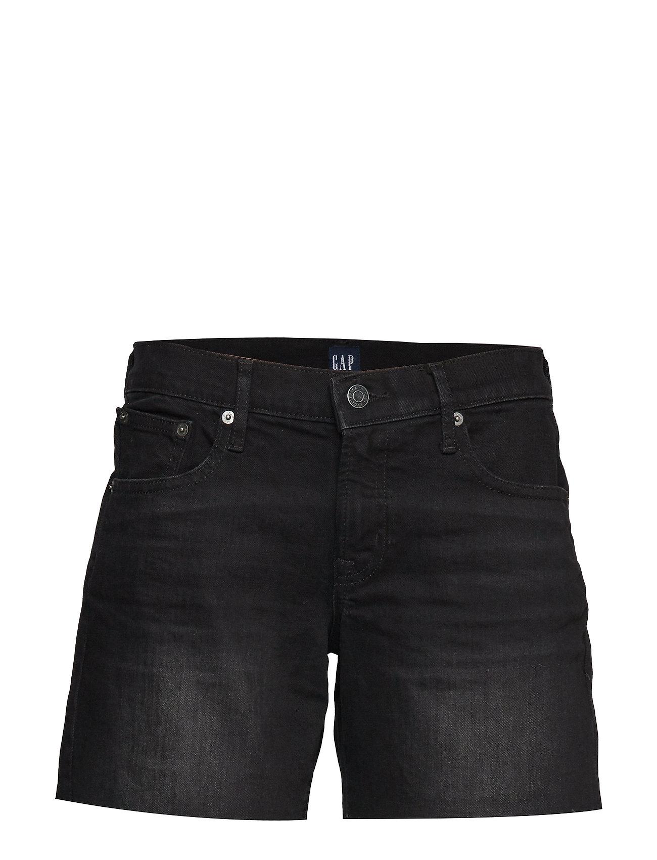 "GAP Mid Rise 5"" Denim Shorts - TRUE BLACK"