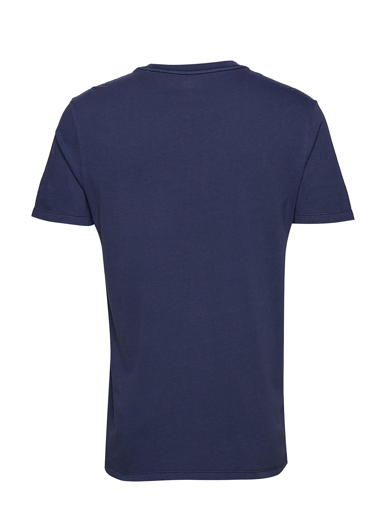 GAP Gap 50th Anniversary Vintage Wash Pocket T-Shirt - TAPESTRY NAVY