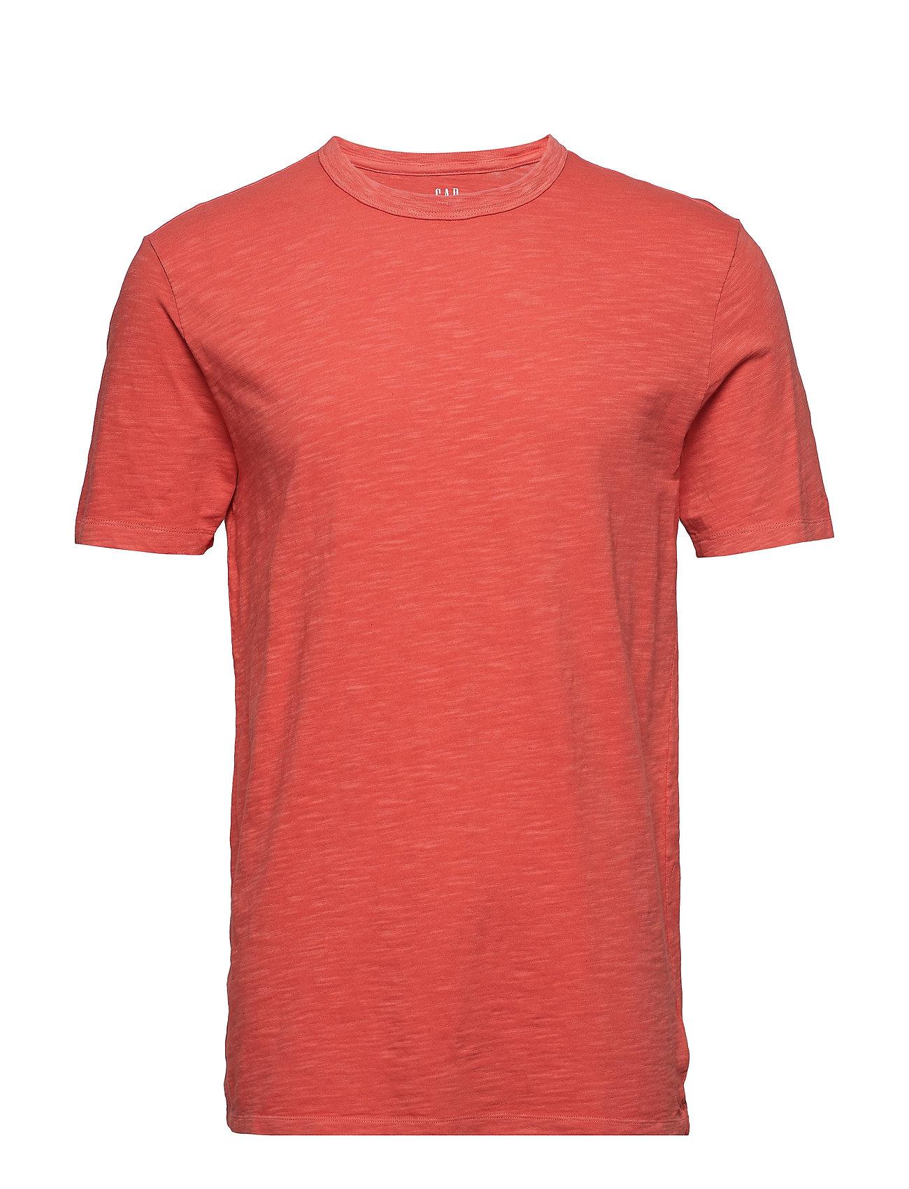 Ss Slub Solid T shirt Rød GAP
