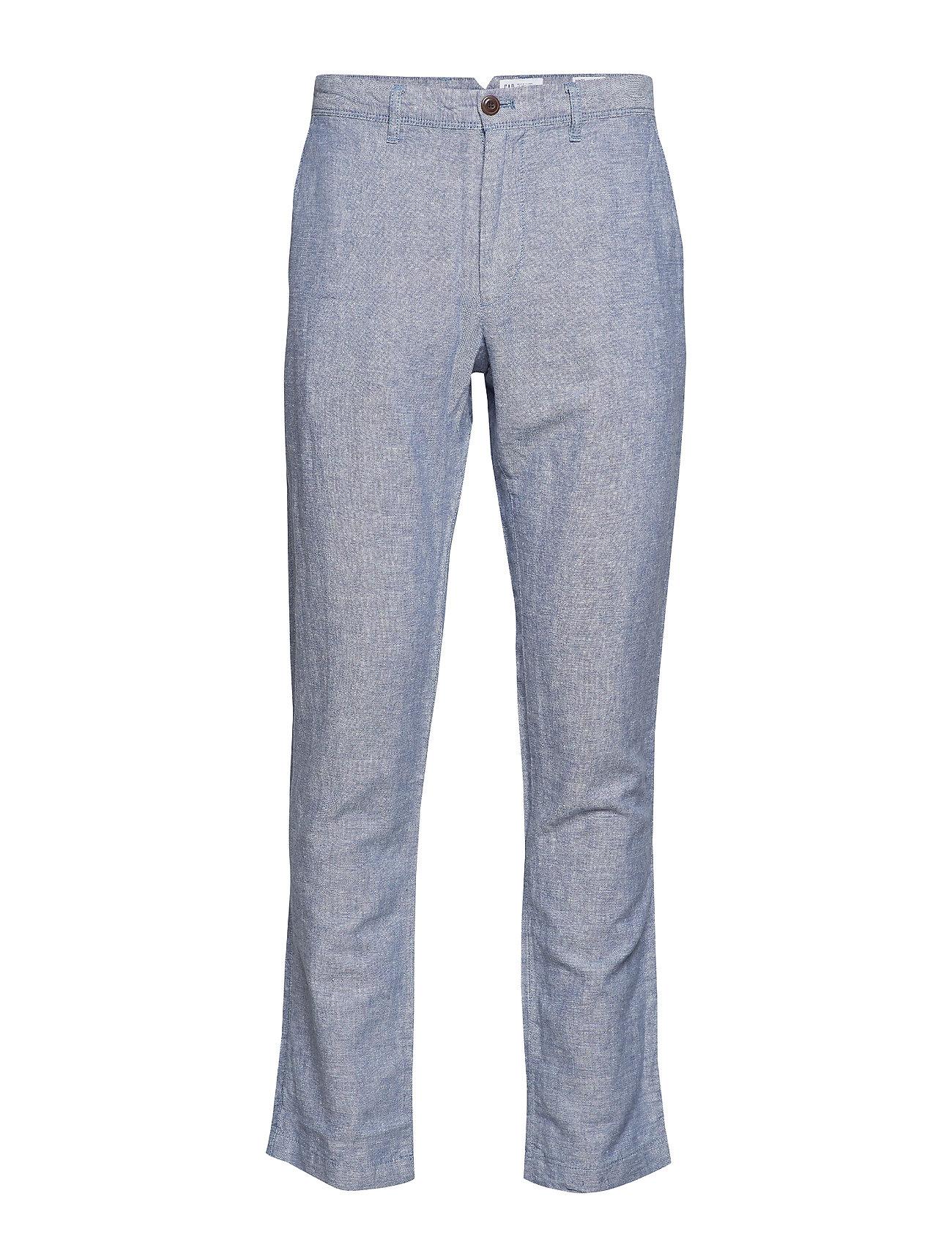 GAP Linen Khakis in Slim Fit - CHAMBRAY 042