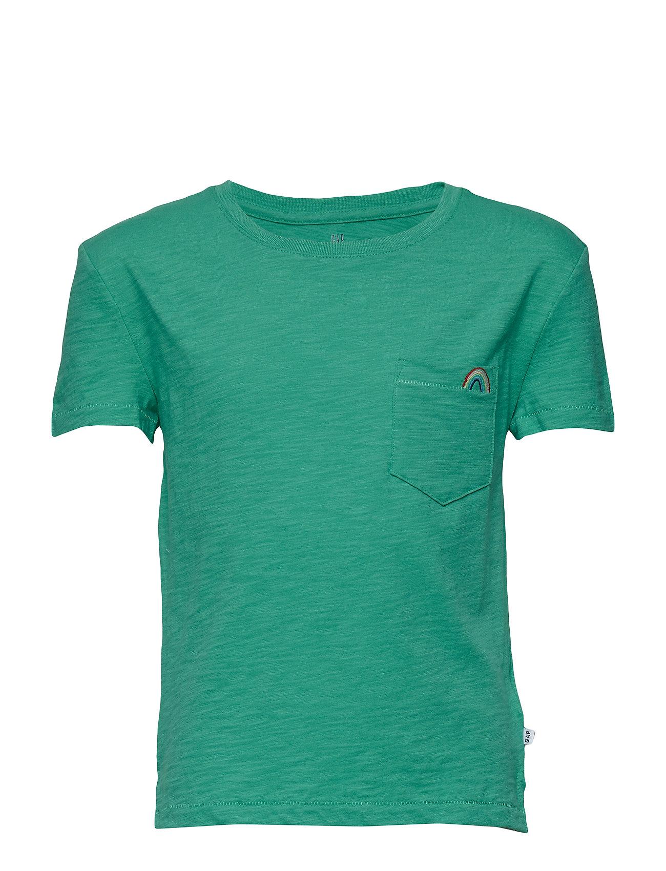 Image of Pkt Emb Tee T-shirt Grøn GAP (3176006681)