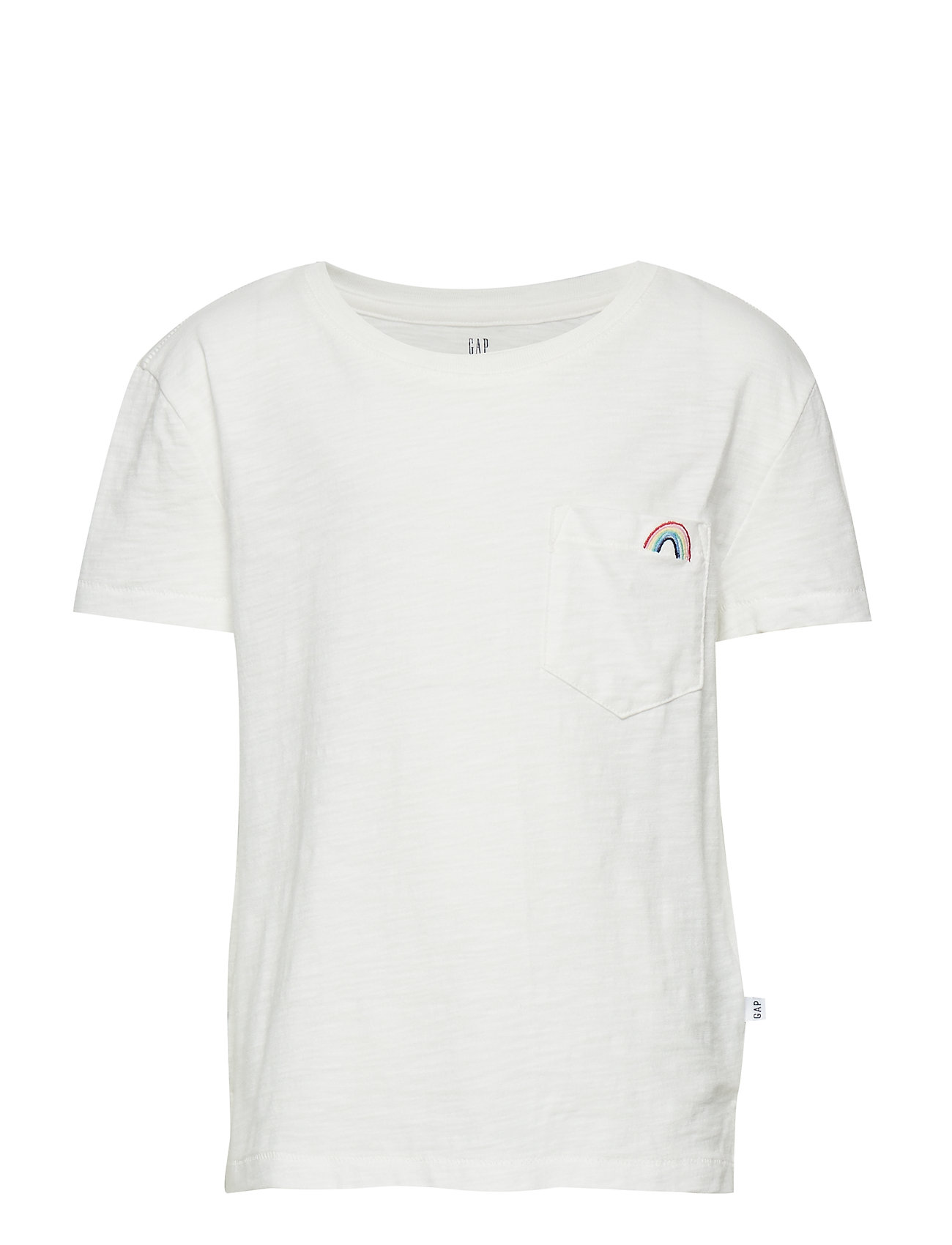 GAP PKT EMB TEE - NEW OFF WHITE