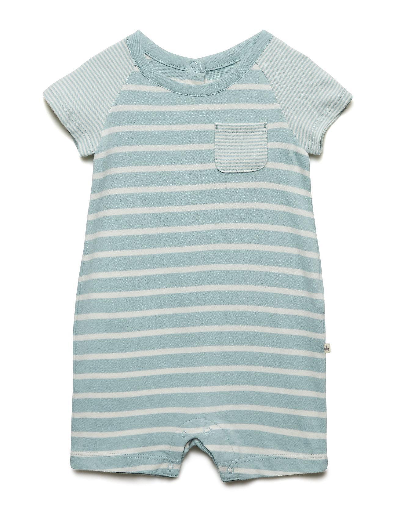 GAP Baby Organic Cotton Stripe Shorty One-Piece - FRESH WATER 917