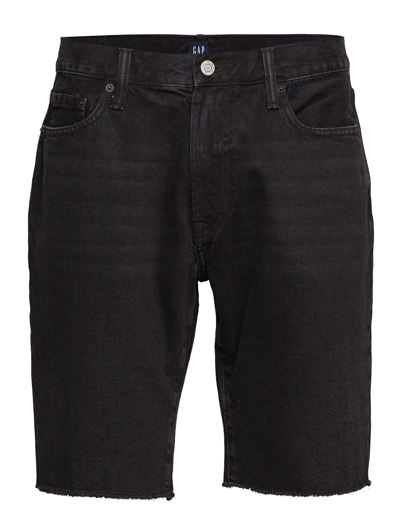 "GAP 10"" Slim Denim Shorts with Raw Hem - BLACK WASH"