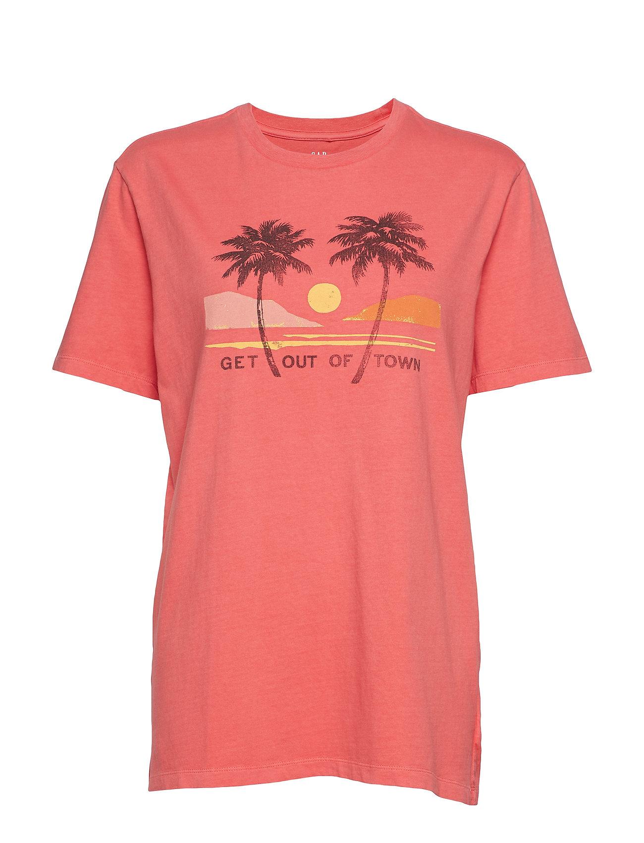 GAP Graphic Short Sleeve Crewneck T-Shirt - WATERMELON ICE