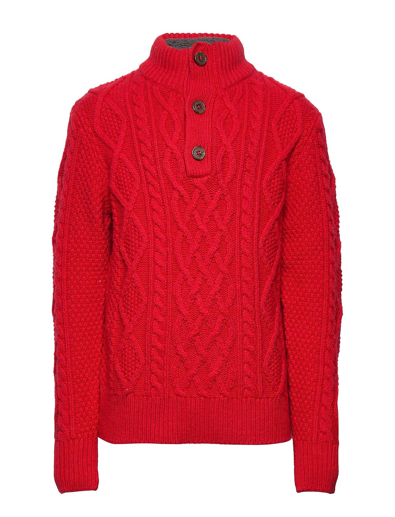 GAP Kids Cable-Knit Mockneck Sweater - MODERN RED 2