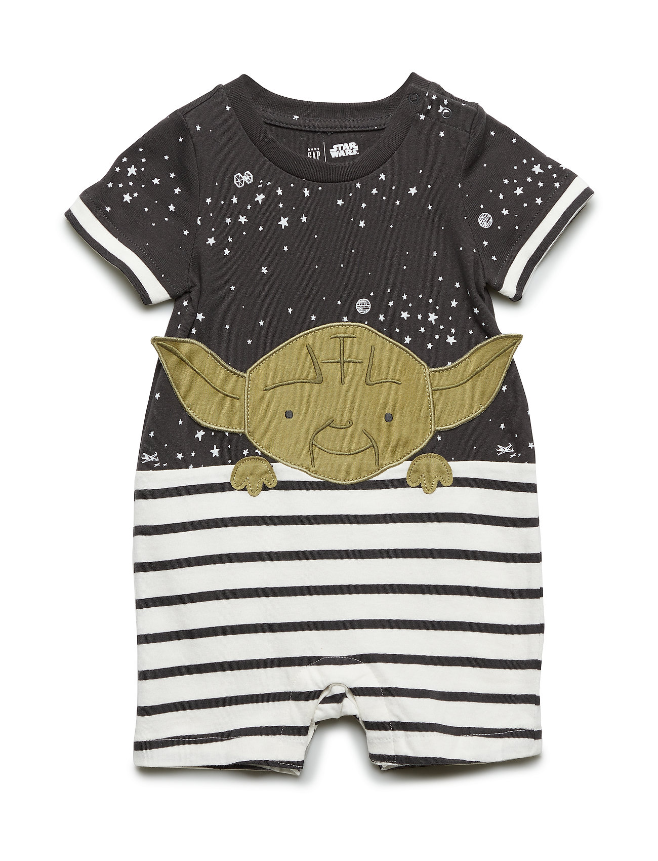 GAP babyGap | Star Wars™ Yoda Shorty One-Piece - FLINT GREY