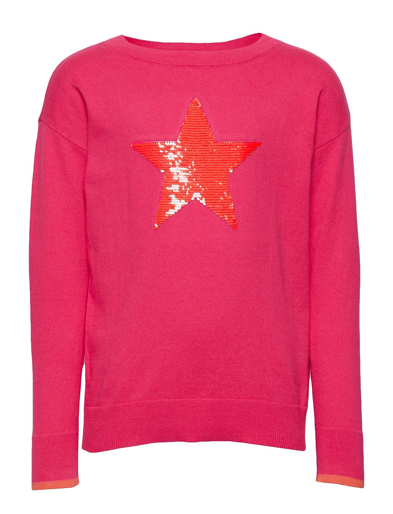 GAP Kids Flippy Sequin Sweater - JELLY BEAN PINK
