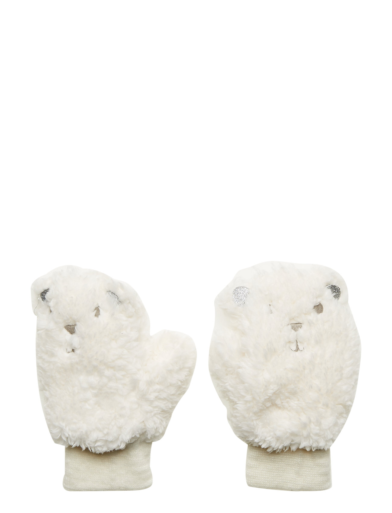 GAP Toddler Sherpa Polar Bear Mittens - IVORY FROST