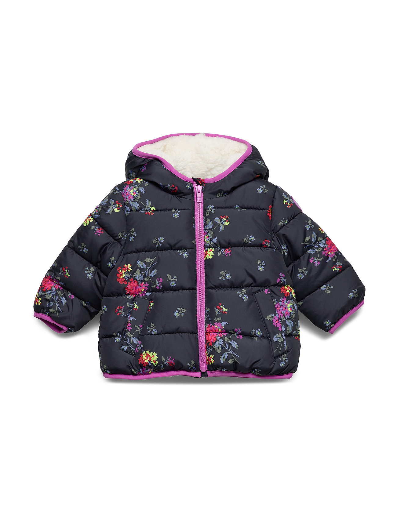 GAP Toddler ColdControl Max Puffer - NAVY FLORAL
