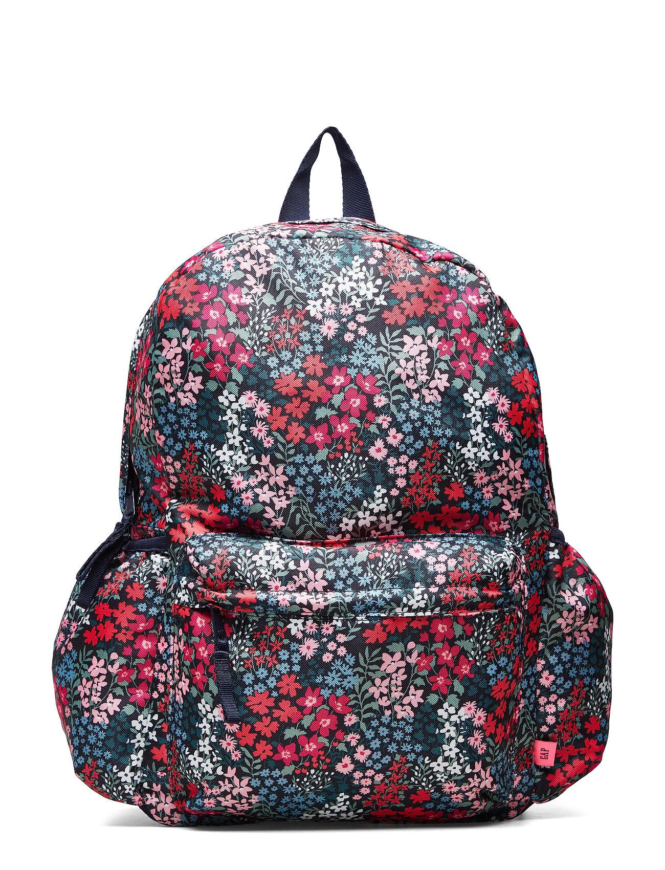 GAP Kids Floral Senior Backpack - NAVY FLORAL