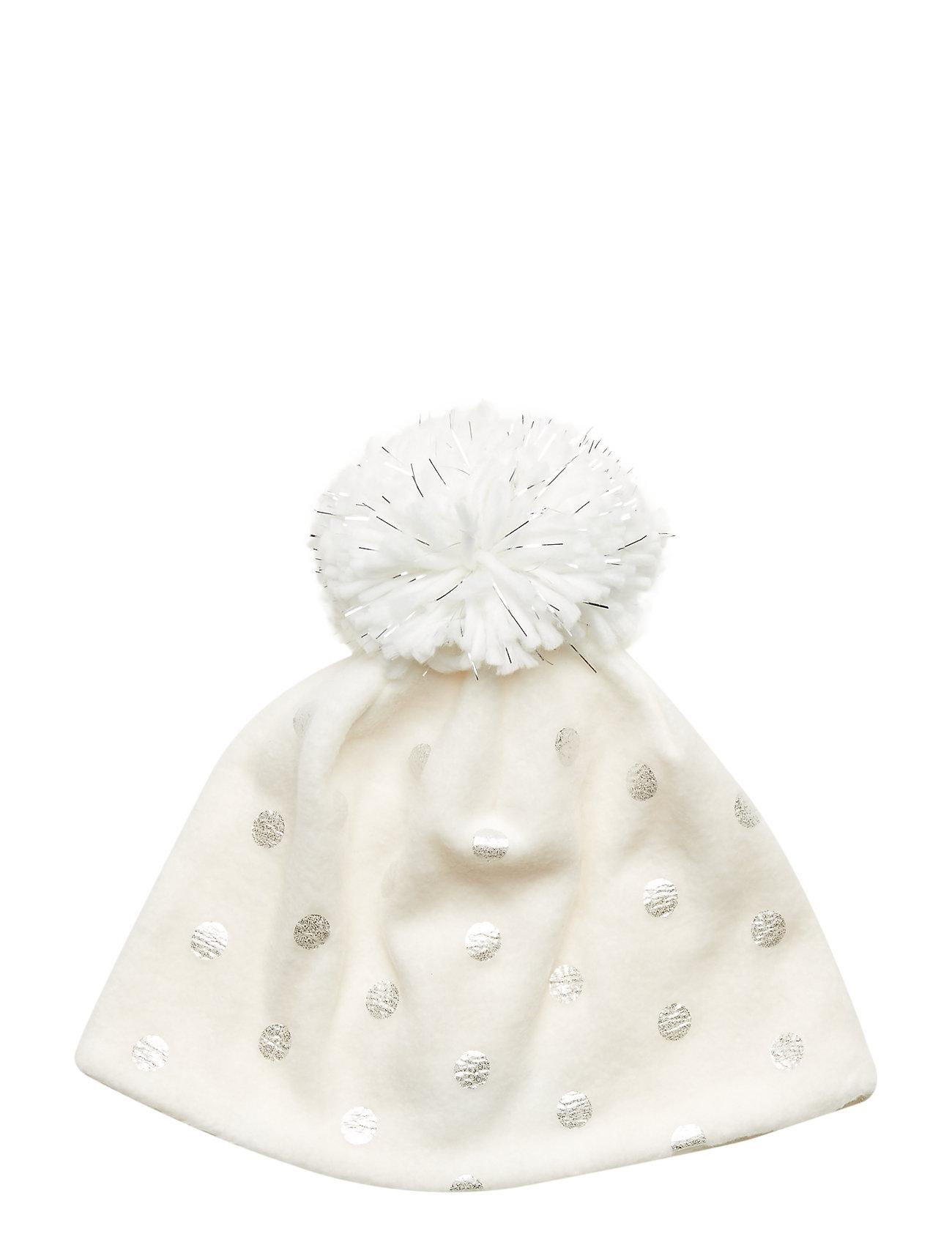 GAP Kids Foil Dot Pom Hat - IVORY FROST