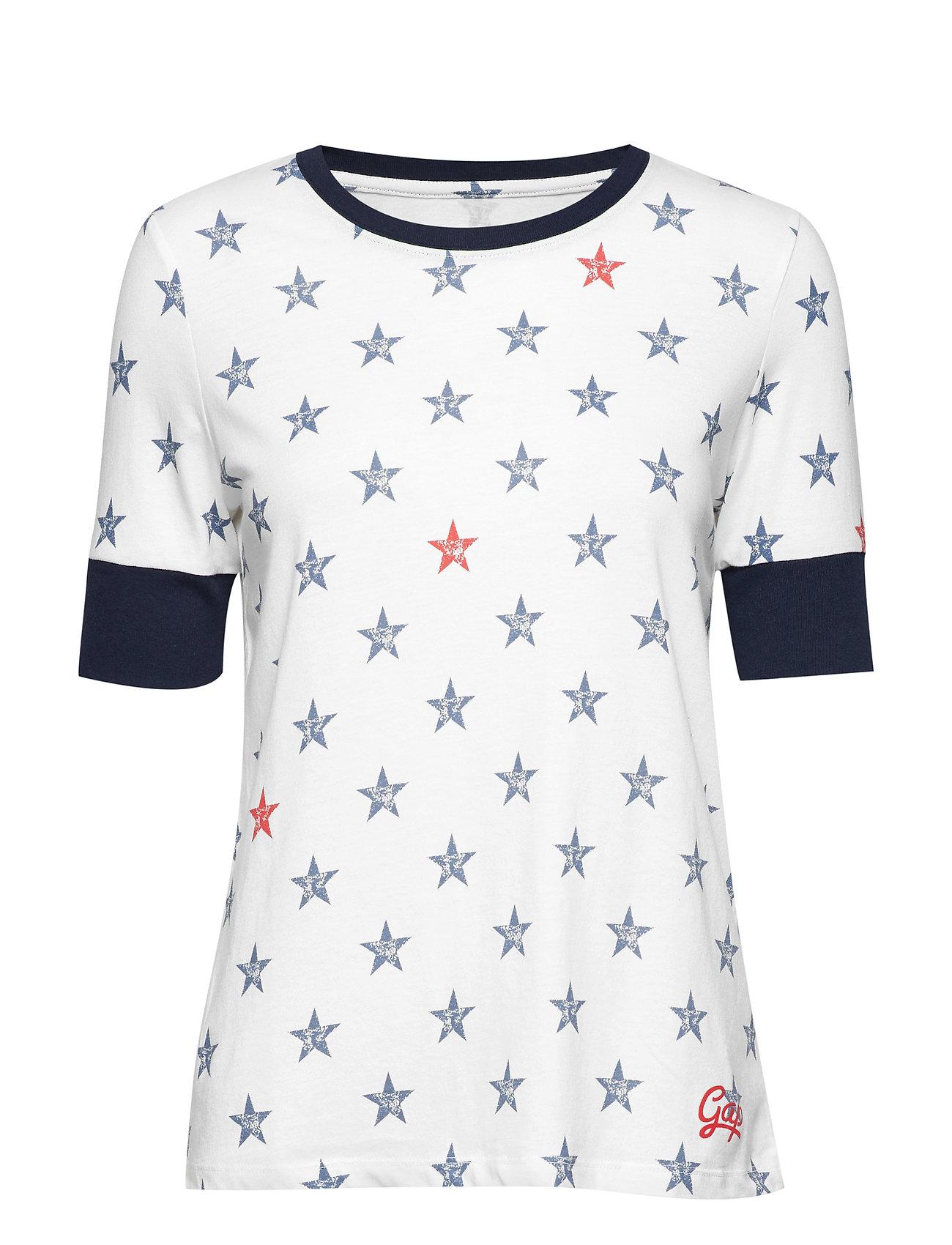 GAP GAP FOURTH TEE - WHITE STAR PRINT