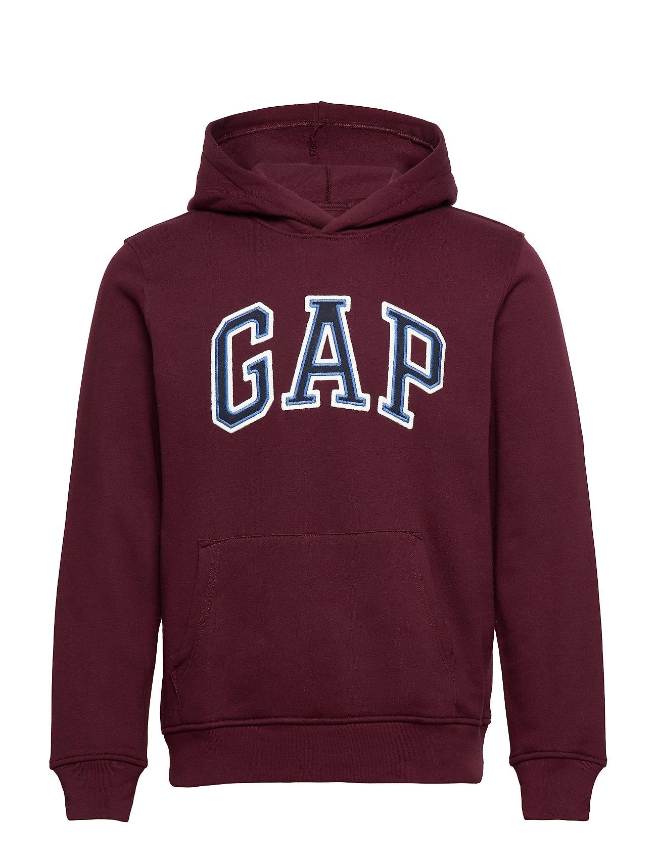 GAP Gap Logo Pullover Hoodie - PINOT NOIR 796