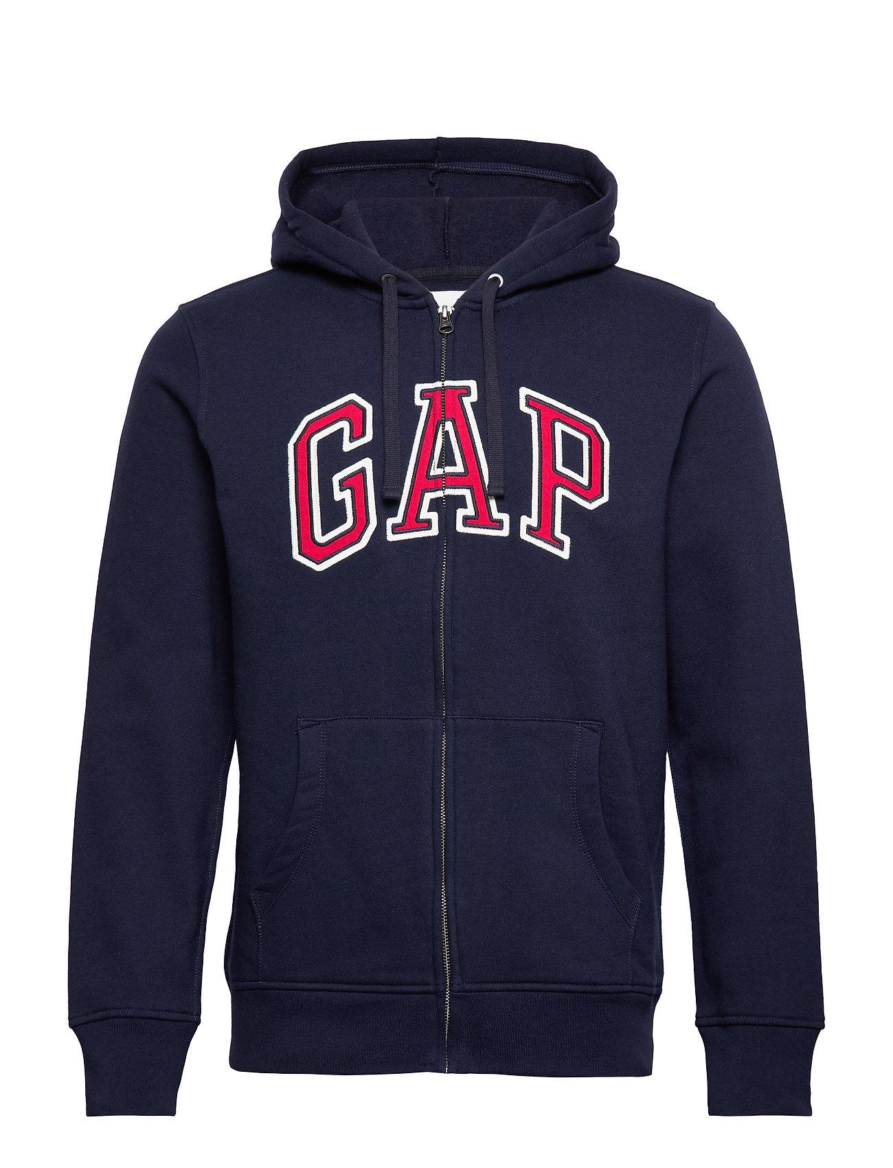 GAP Gap Logo Full-Zip Hoodie - TAPESTRY NAVY
