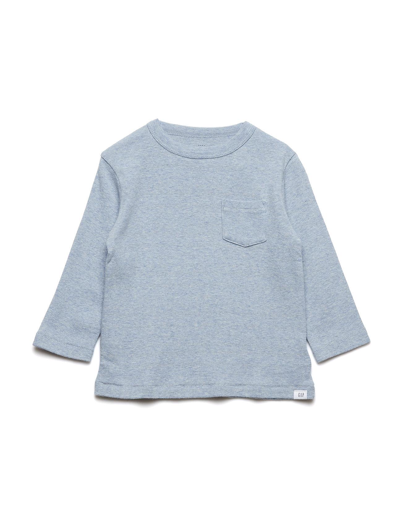 GAP Toddler Long Sleeve T-Shirt - BLUE HEATHER