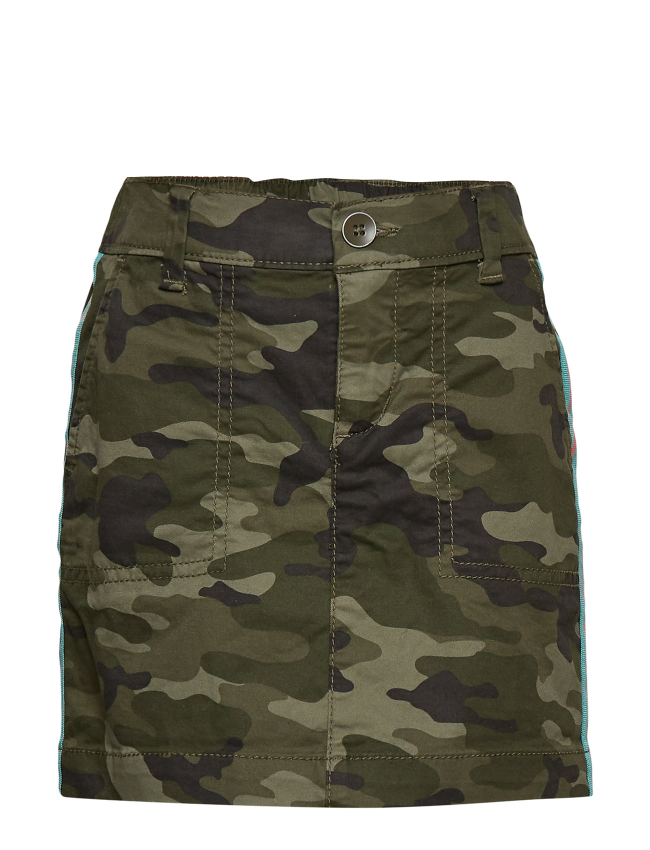 GAP Kids Camo Side-Stripe Skirt - GREEN CAMO