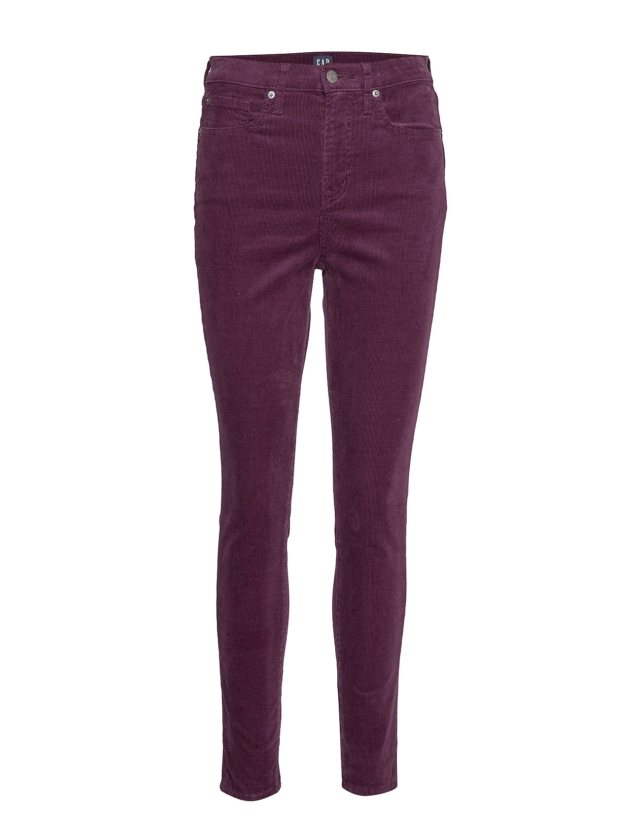 GAP High Rise True Skinny Cords with Secret Smoothing Pockets - RICH WINE