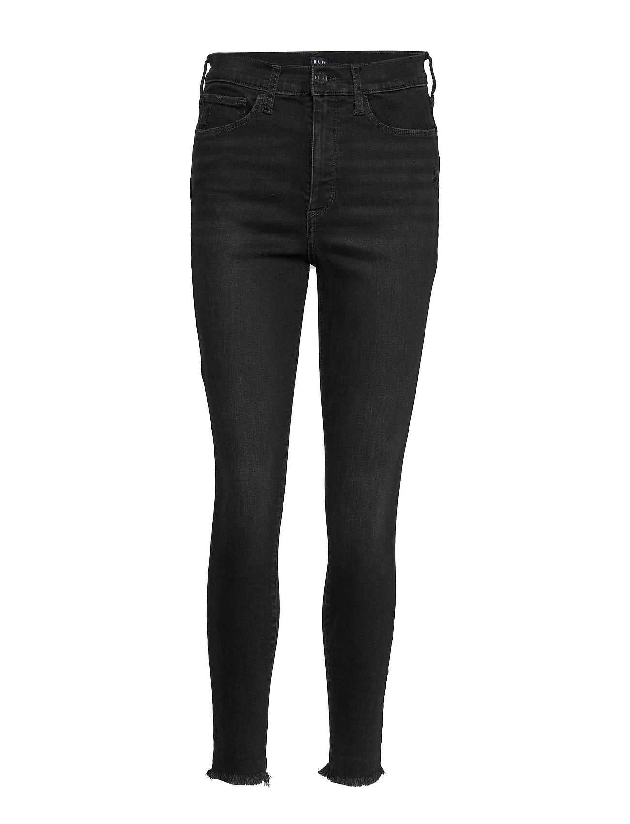 GAP High Rise Favorite Jeggings with Secret Smoothing Pockets - WORN BLACK DESTROY