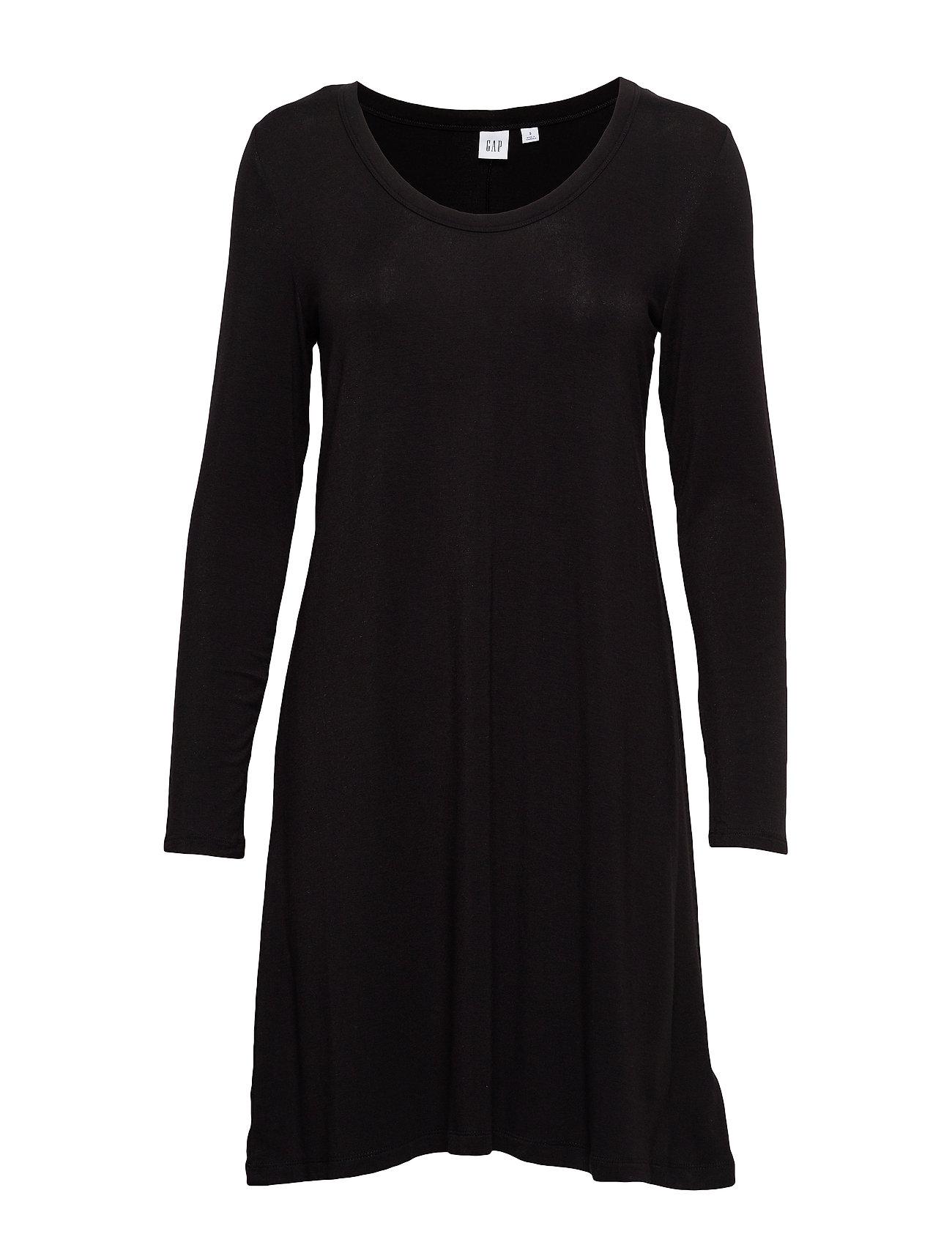 Image of U-Neck Swing Dress Knælang Kjole Sort GAP (3406208359)