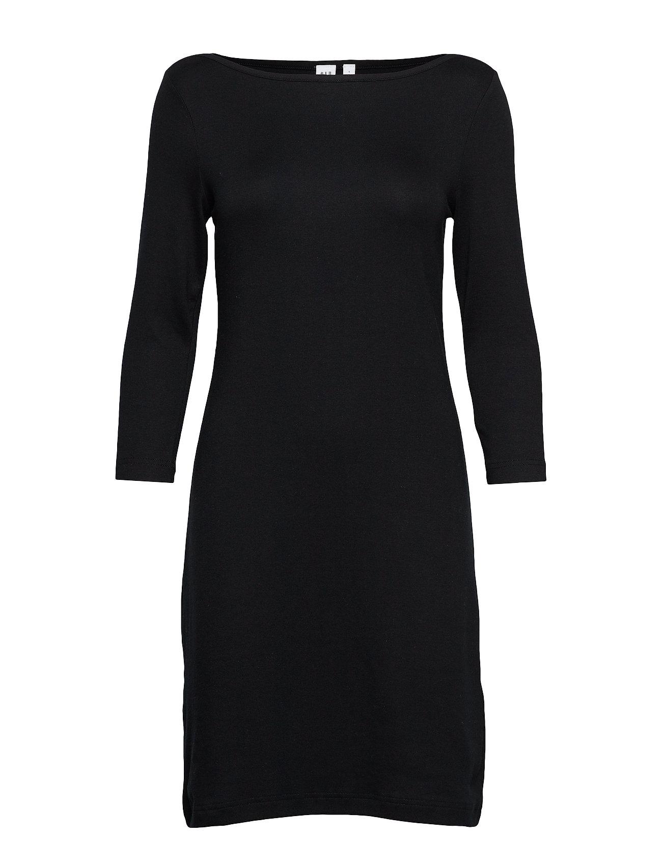 GAP Modern Boatneck Dress - TRUE BLACK V2 3