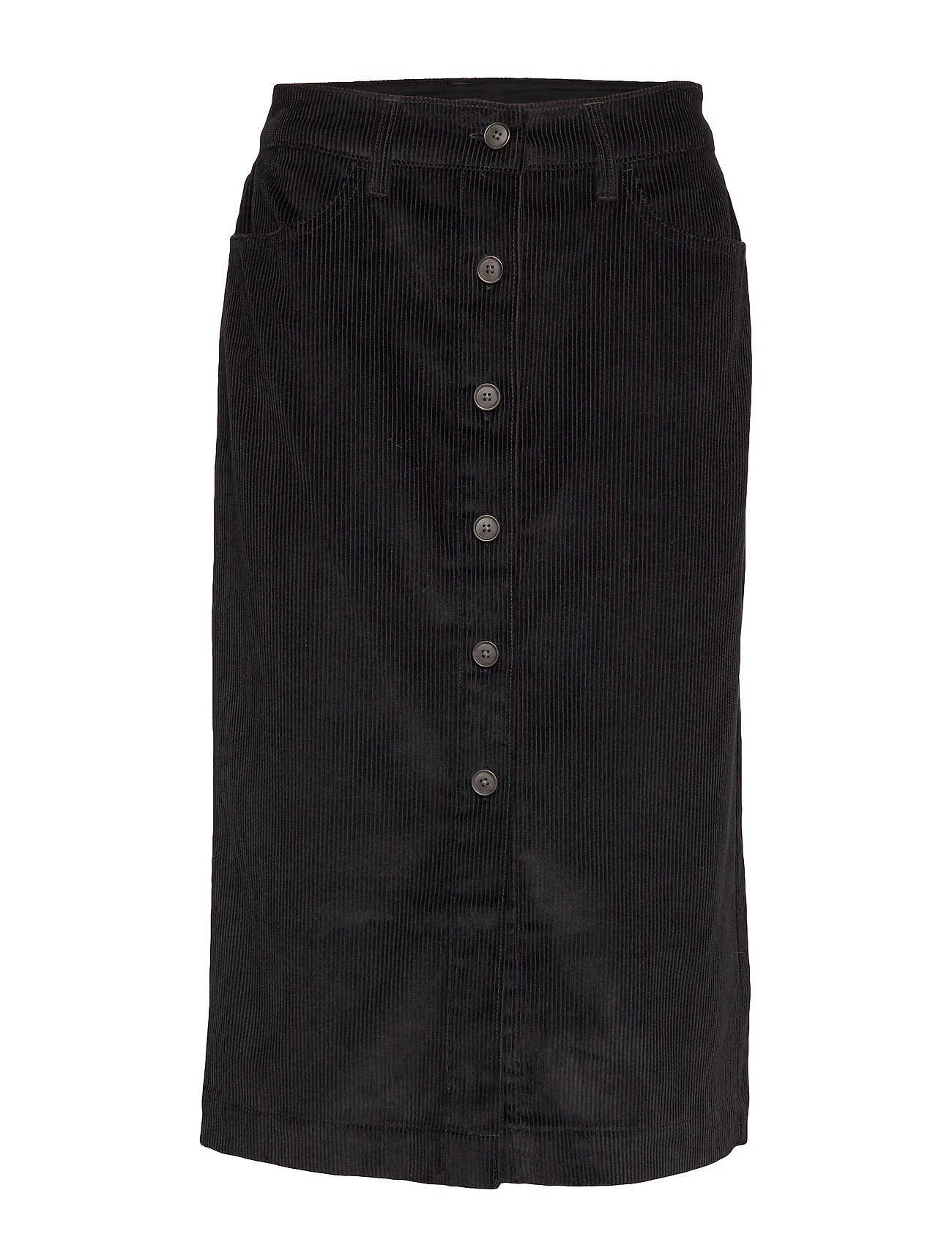 GAP Corduroy Button-Front Midi Skirt - TRUE BLACK V2 3