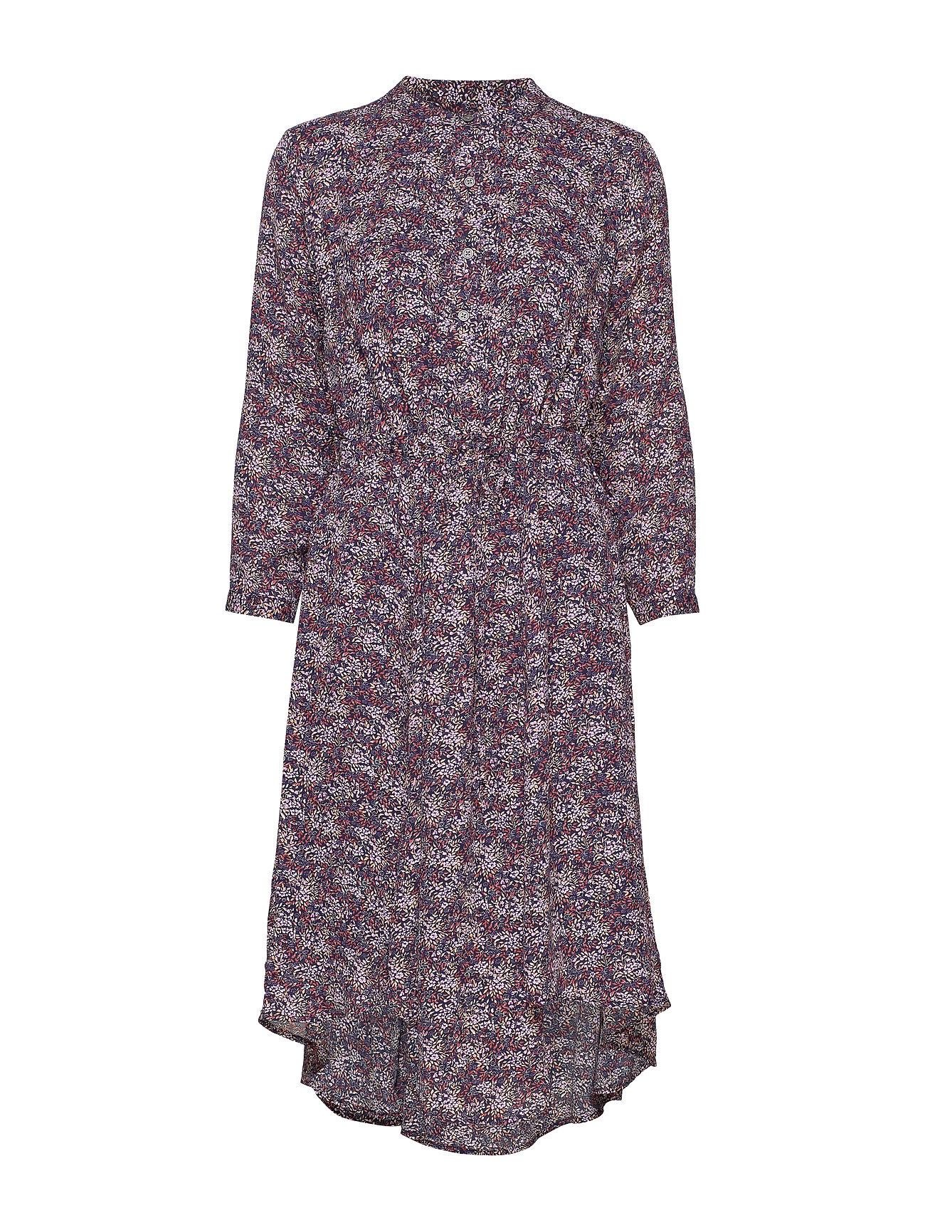 GAP Floral Print Midi Shirtdress - NAVY FLORAL