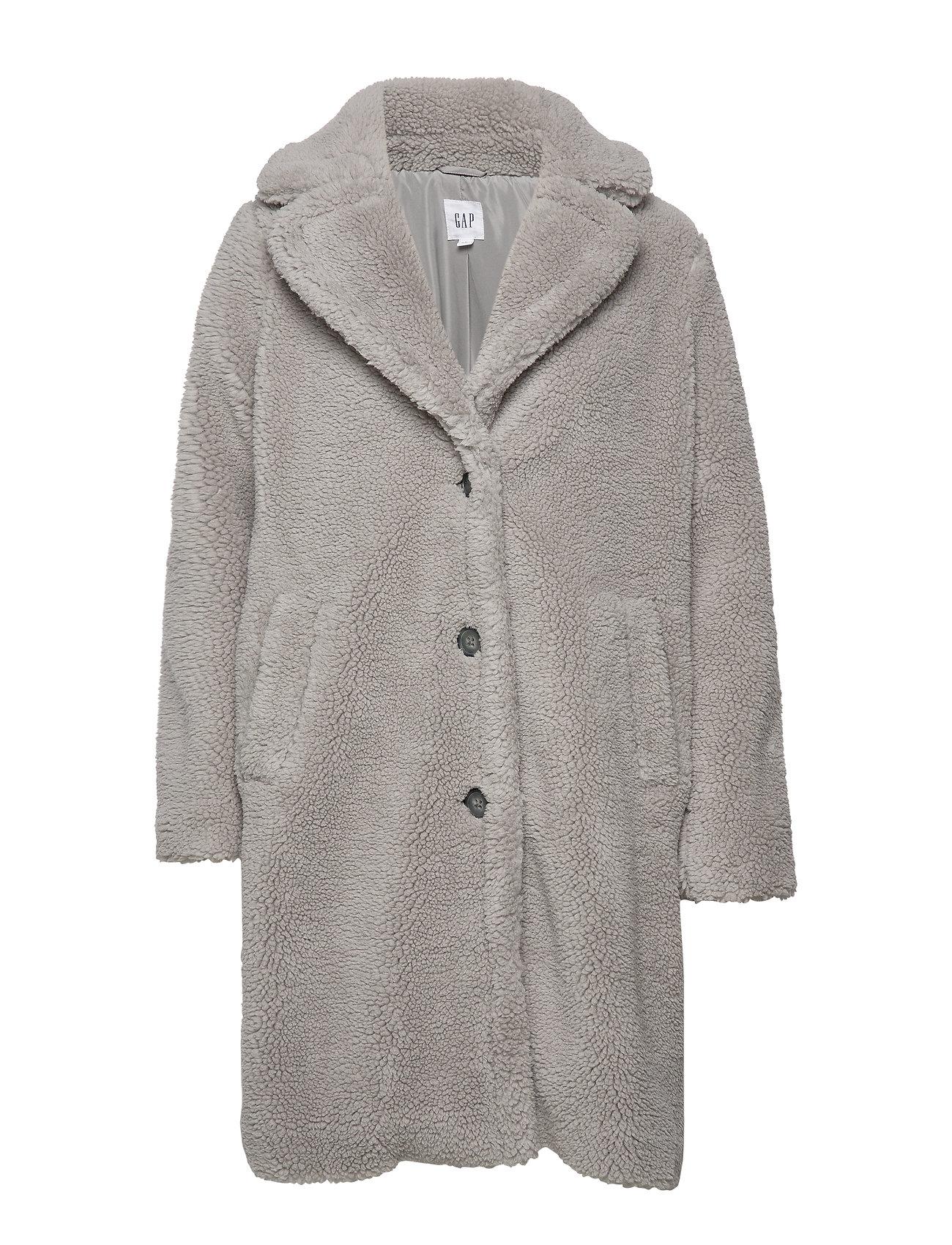 GAP Teddy Coat - SILVER GREY