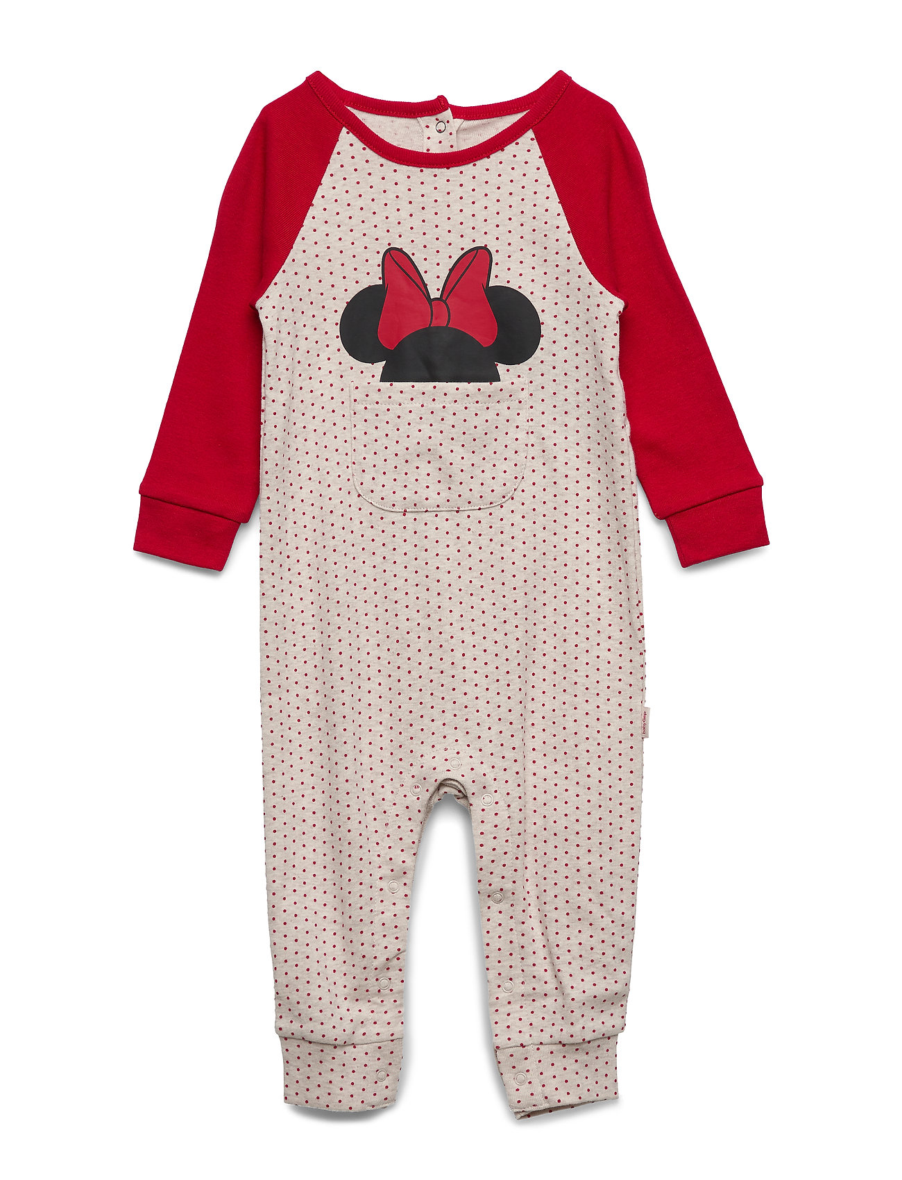 GAP babyGap | Disney Minnie Mouse One-Piece - OATMEAL HEATHER B0281