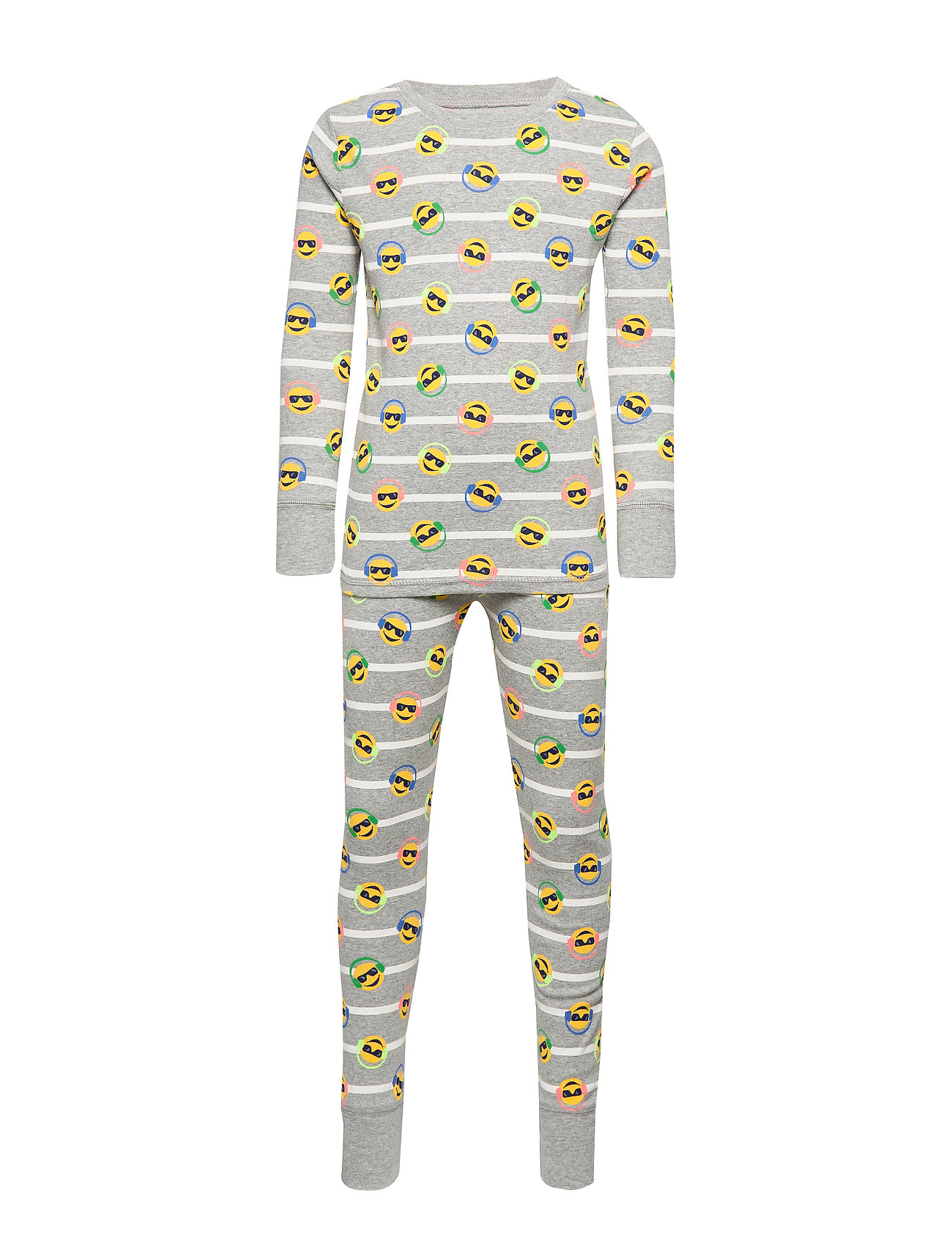 GAP Kids Emoji PJ Set - B10 GREY HEATHER