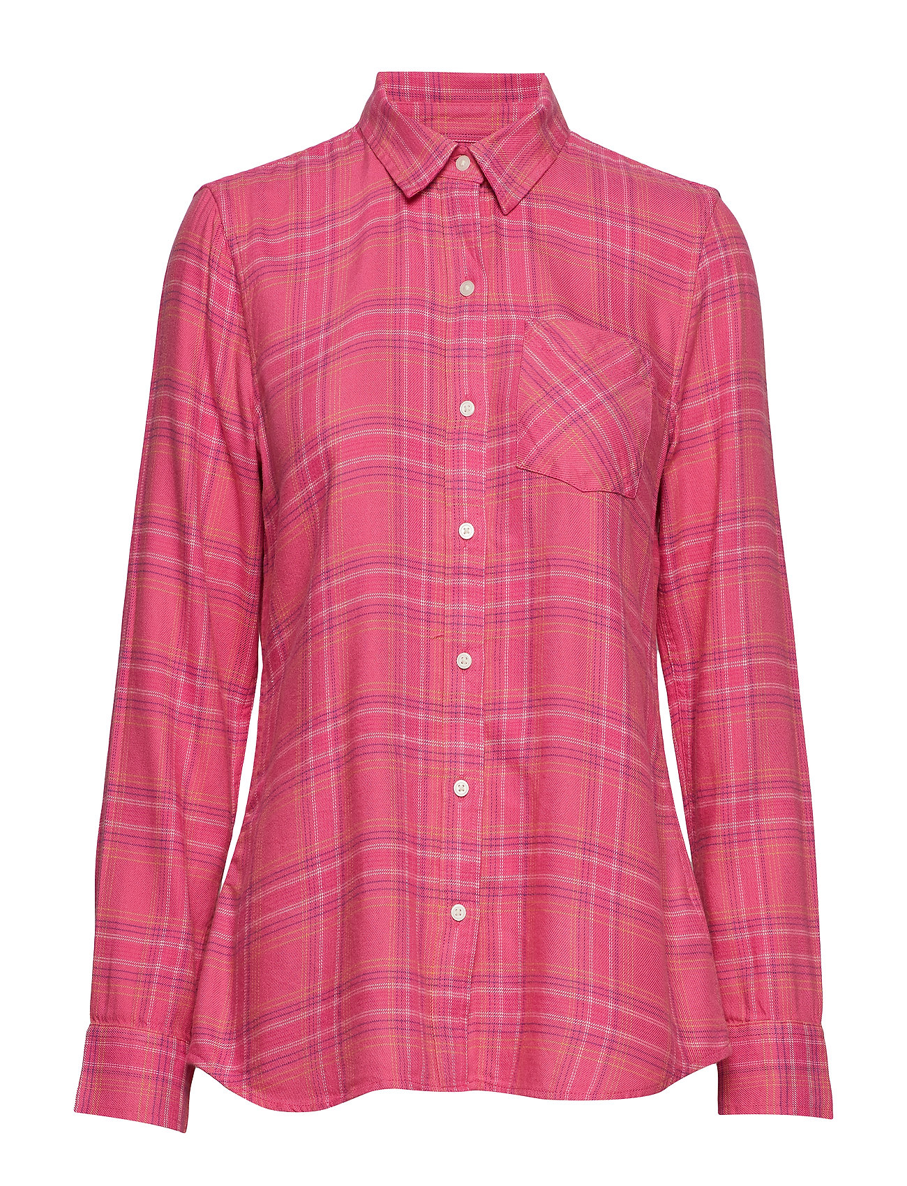 GAP Plaid Flannel Shirt - PINK PLAID COMBO A