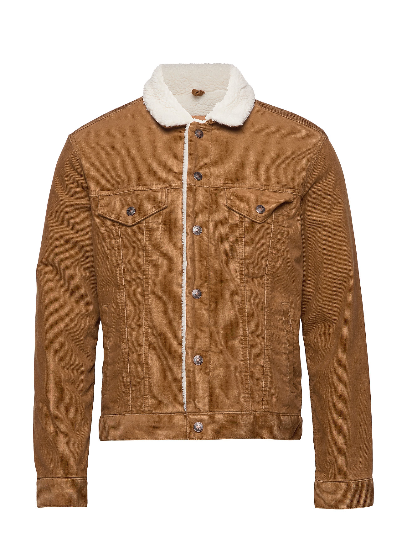 GAP Sherpa-Lined Icon Corduroy Jacket - PALOMINO BROWN GLOBAL