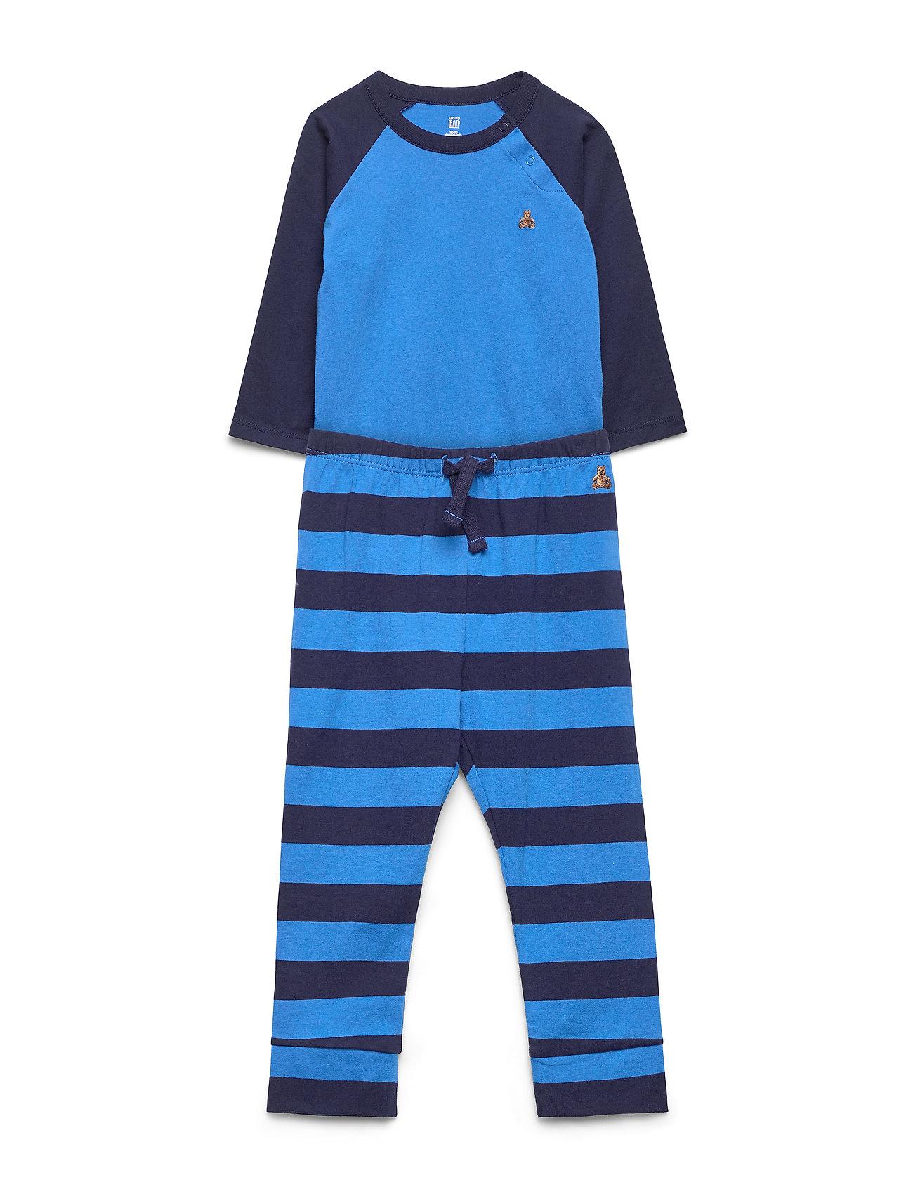 Image of Baby Brannan Bear Bodysuit Set Pyjamassæt Blå GAP (3406208169)