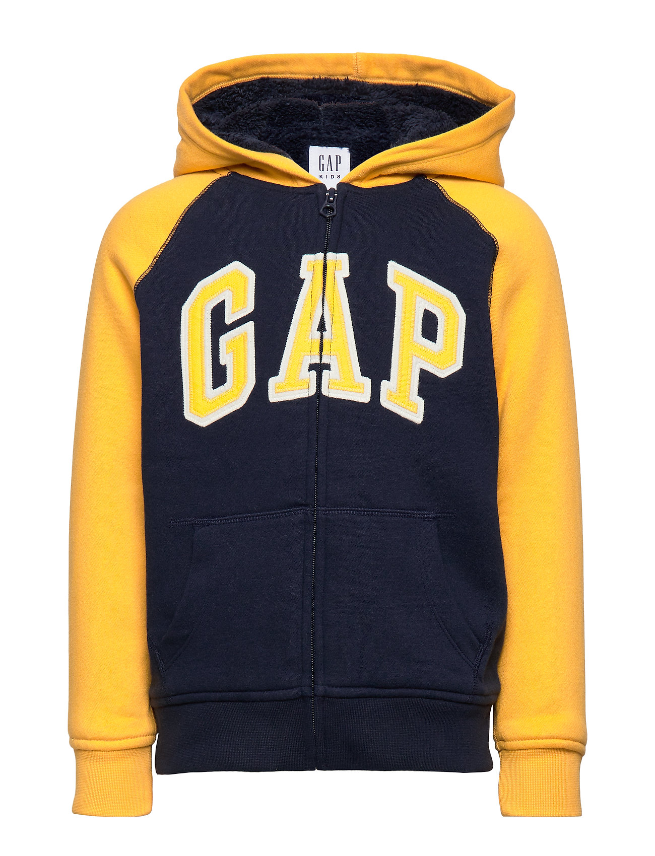GAP Kids Cozy-Lined Gap Logo Sweatshirt - TAPESTRY NAVY