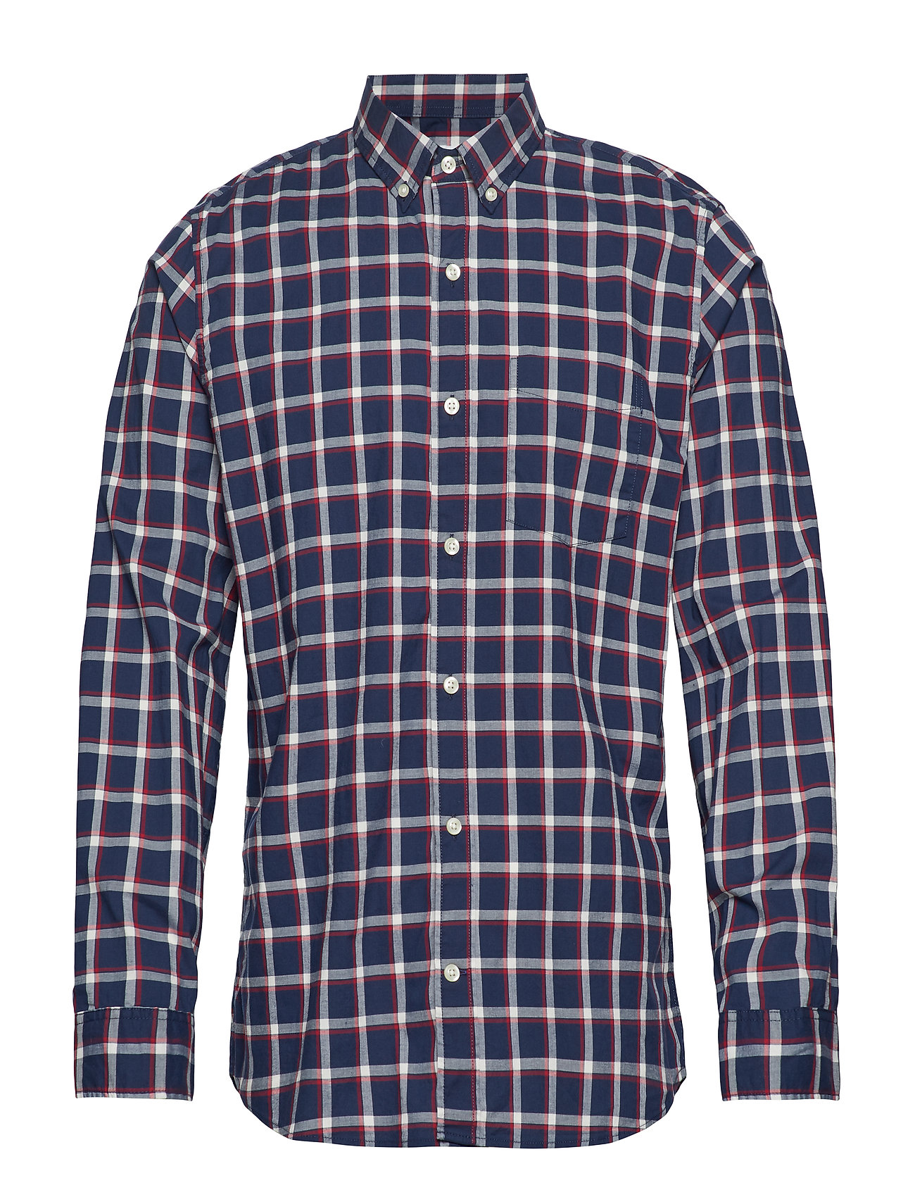 GAP Lived-In Stretch Poplin Shirt - NAVY WINPANE