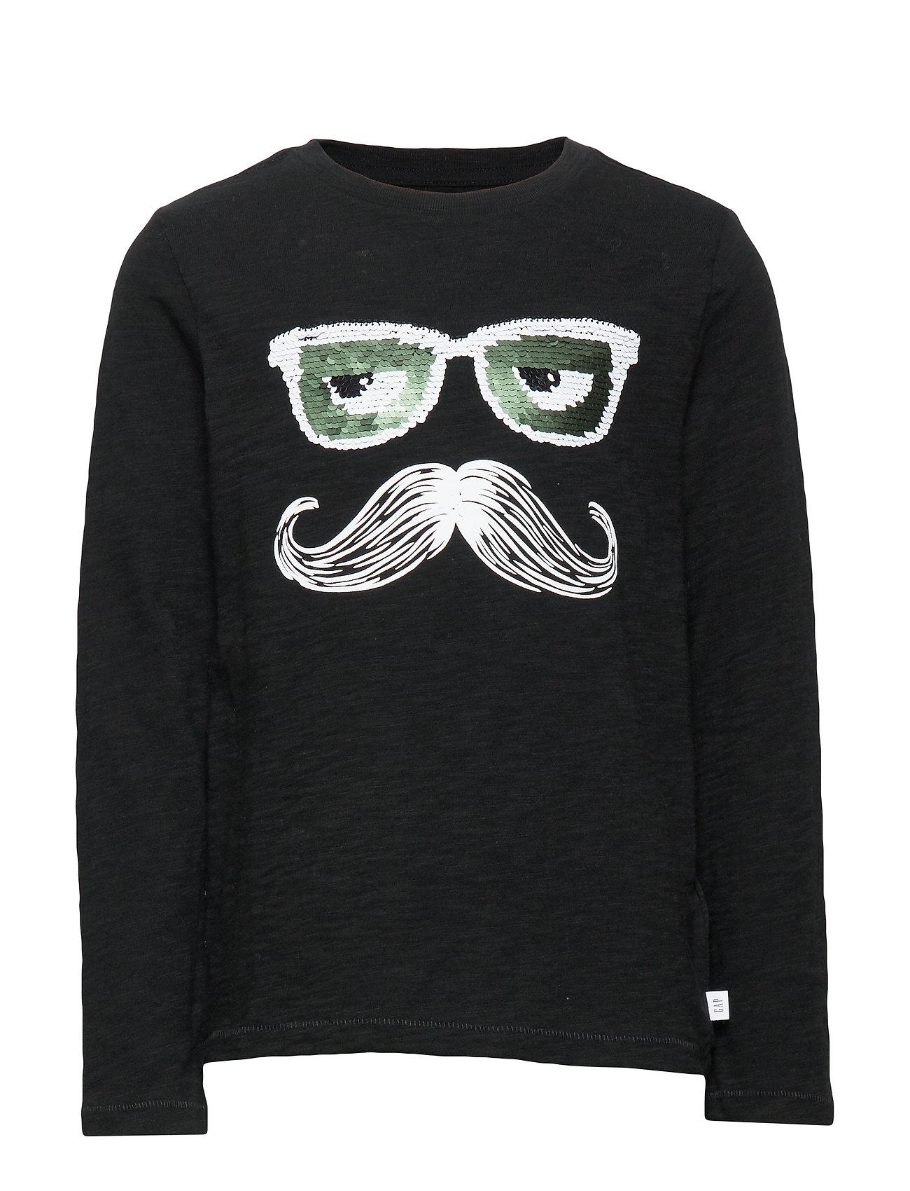 GAP Kids Flippy Sequin T-Shirt - TRUE BLACK