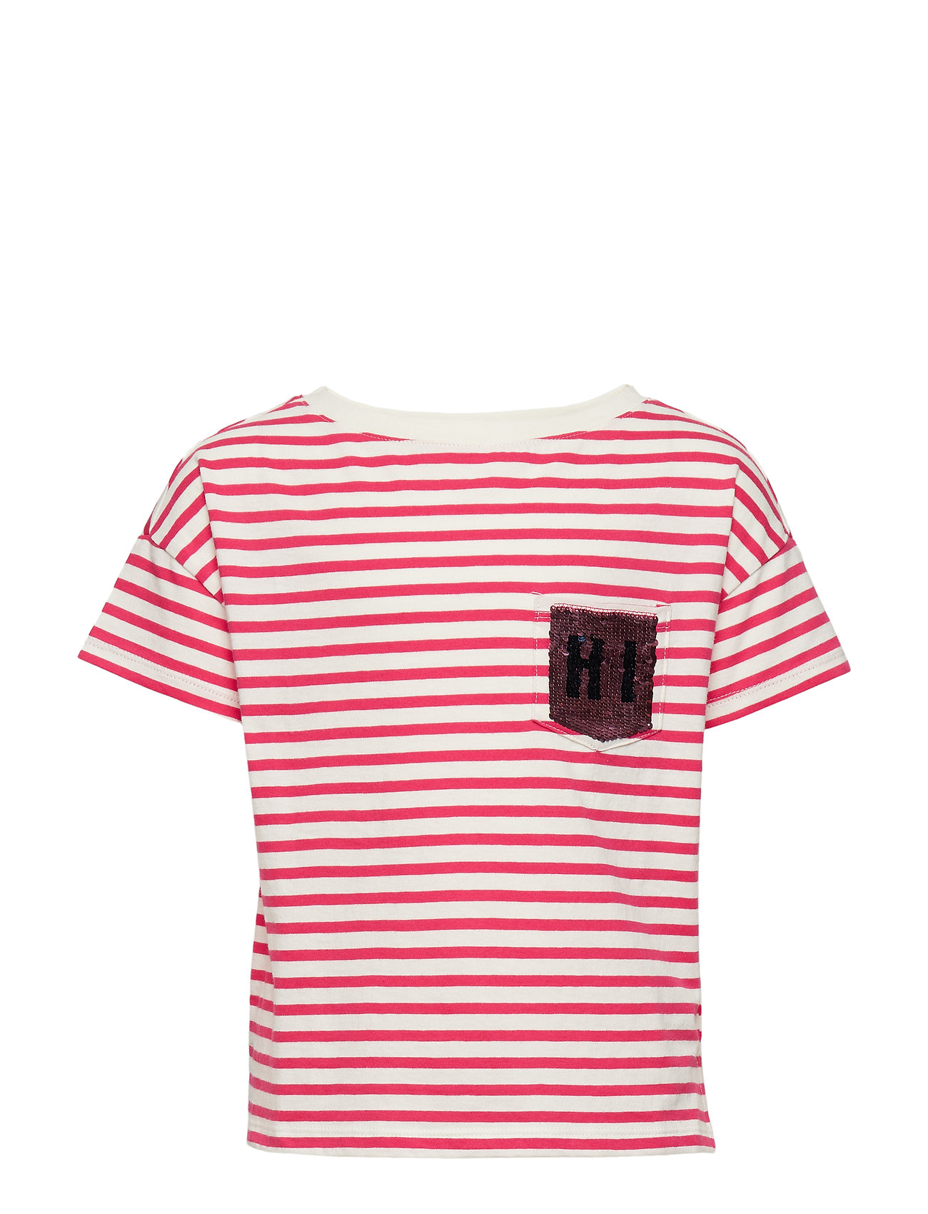 GAP AUG FLP GR T - PINK STRIPE
