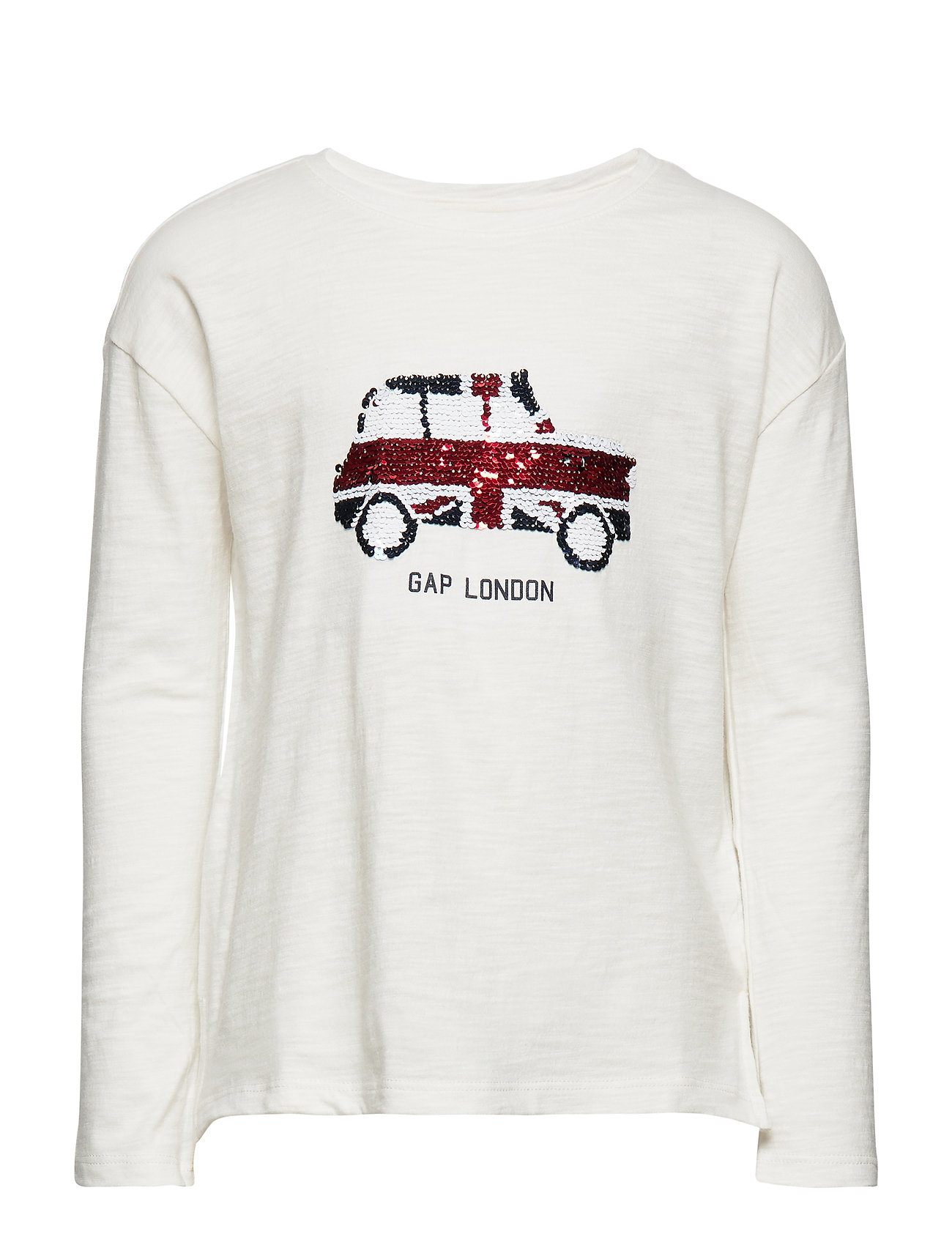 Image of Kids Flippy Sequin Graphic T-Shirt Langærmet T-shirt Hvid GAP (3232787939)