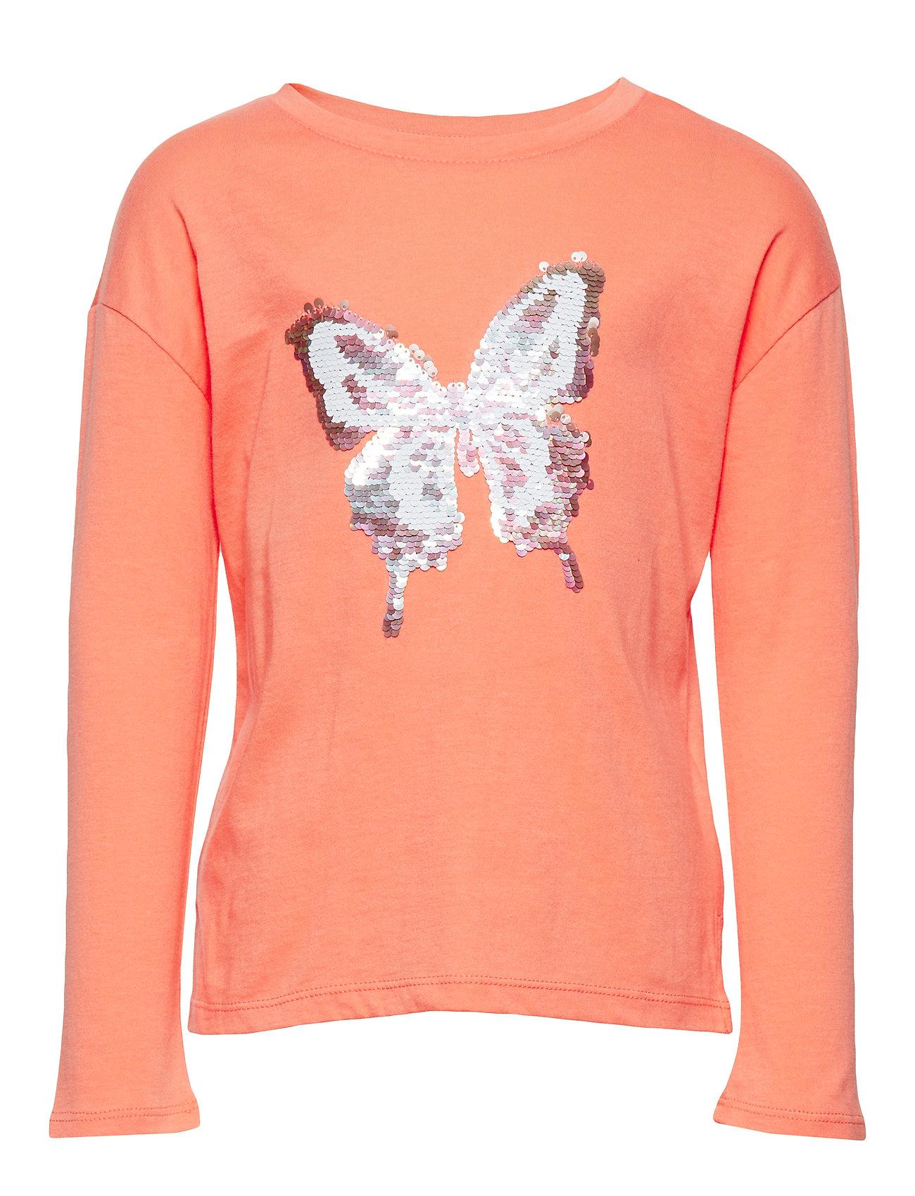 Image of Kids Flippy Sequin Graphic T-Shirt Langærmet T-shirt Orange GAP (3264523683)