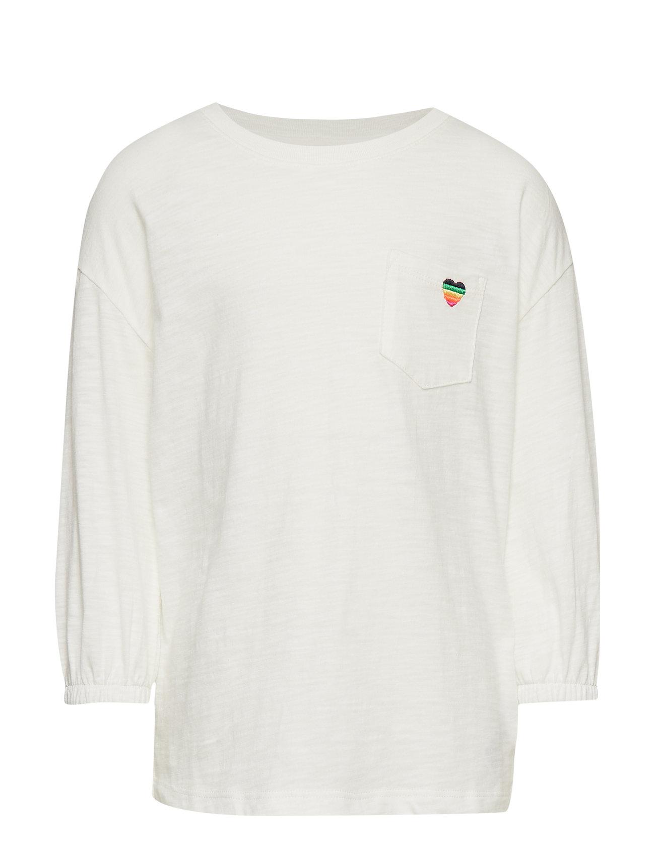 Image of Kids Balloon-Sleeve Pocket T-Shirt Langærmet T-shirt Hvid GAP (3207953395)