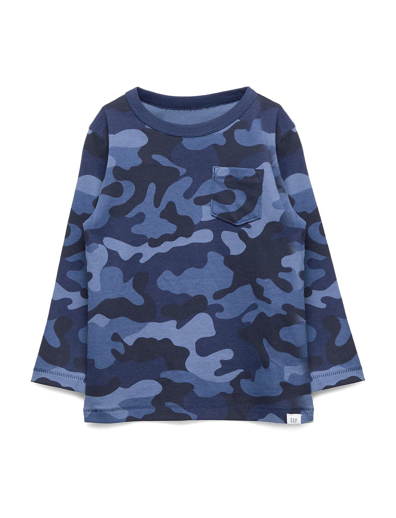 Image of V-Ptf Print Ls Langærmet T-shirt Blå GAP (3279932037)